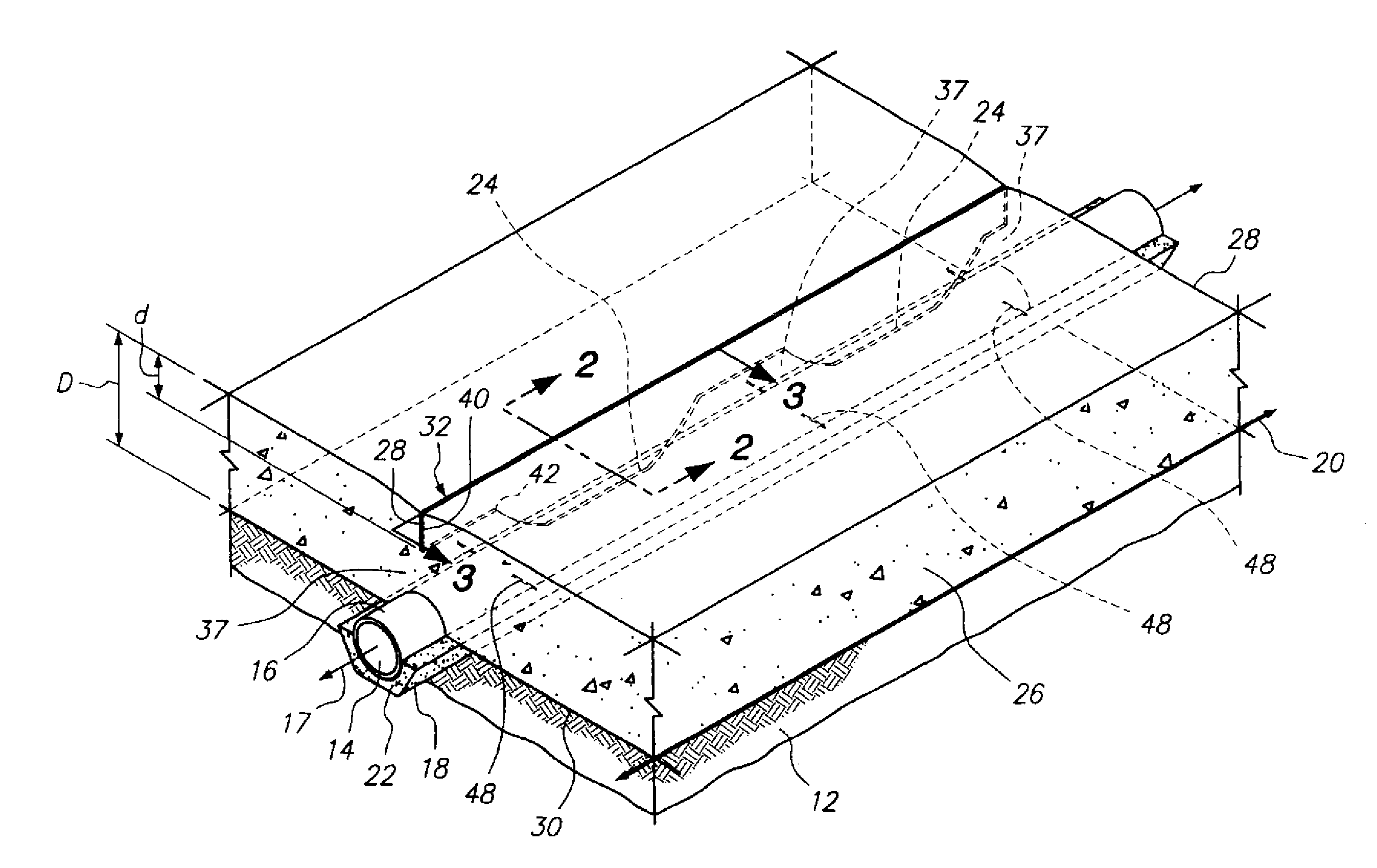 Patent us20120315085 surface drainage system google for Surface drainage system