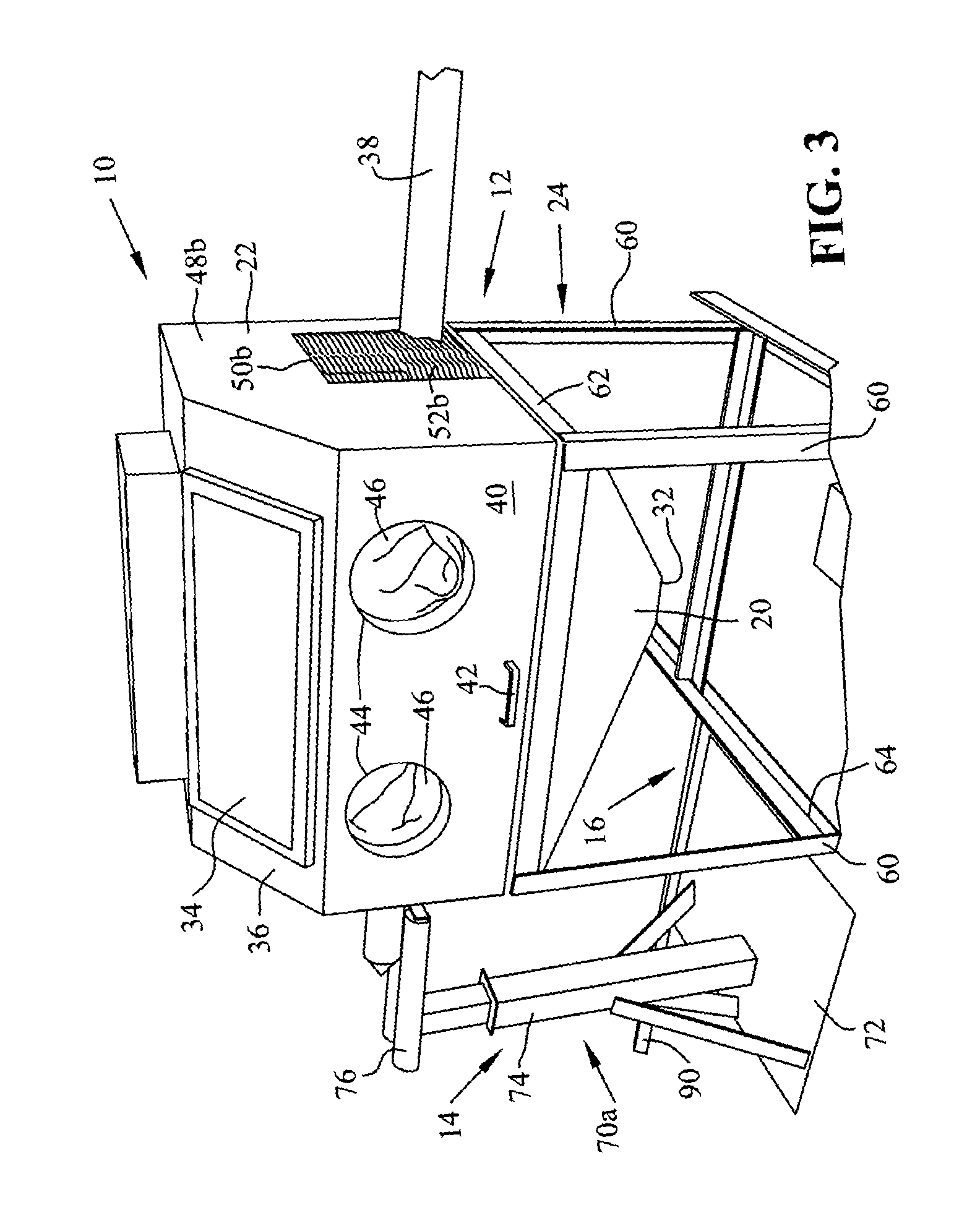 Patent US20120315828 - Shot blast cabinet and track system ...