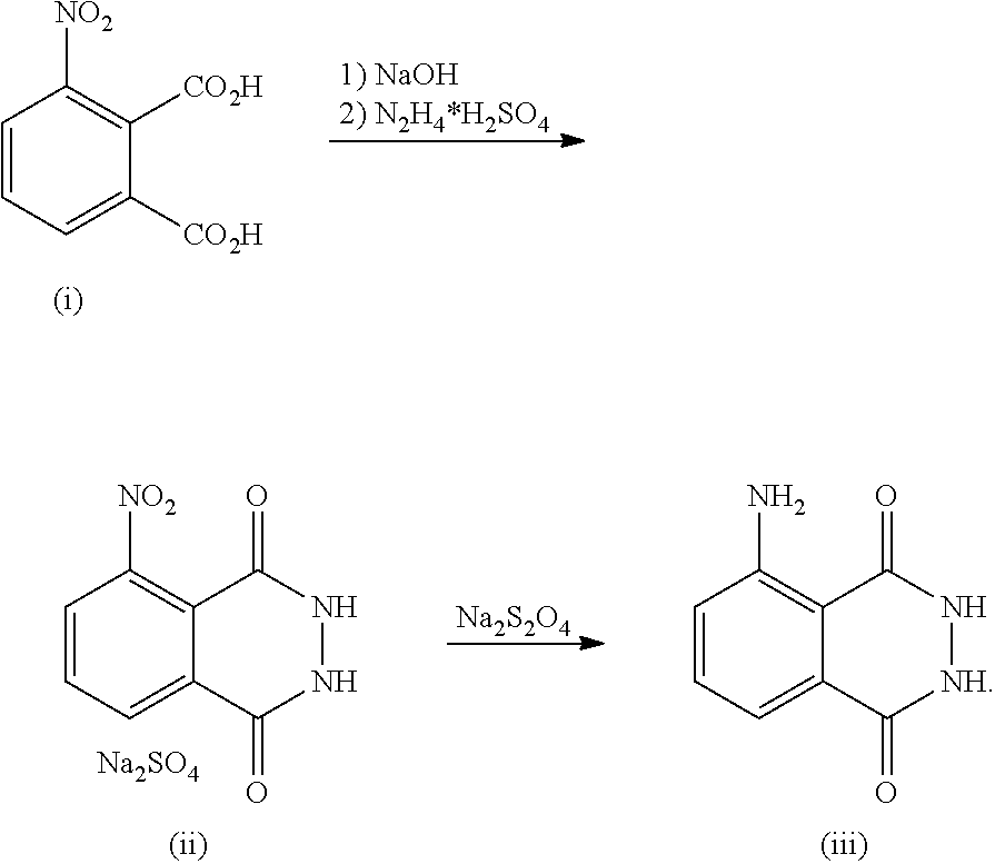 luminol synthesis Synthesis luminol may be synthesized by reverse-phosphorescence, two-step process it begins from 3-nitrophthalic acid first, hydrazine (n 2.