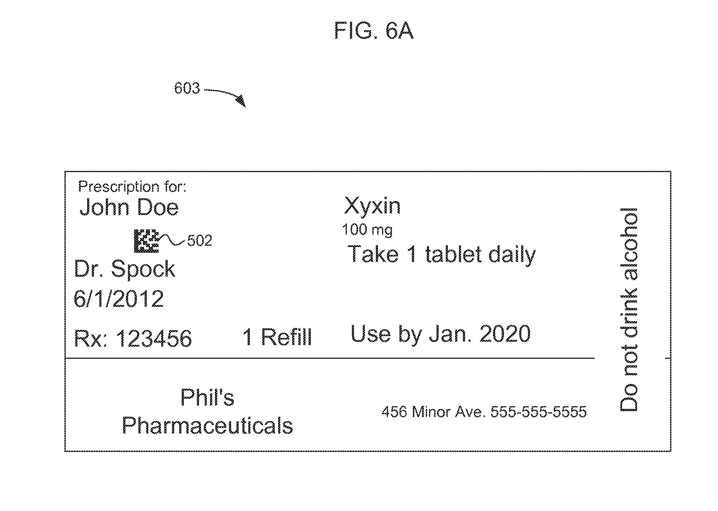 Patent US20120330665 - Prescription label reader - Google Patents