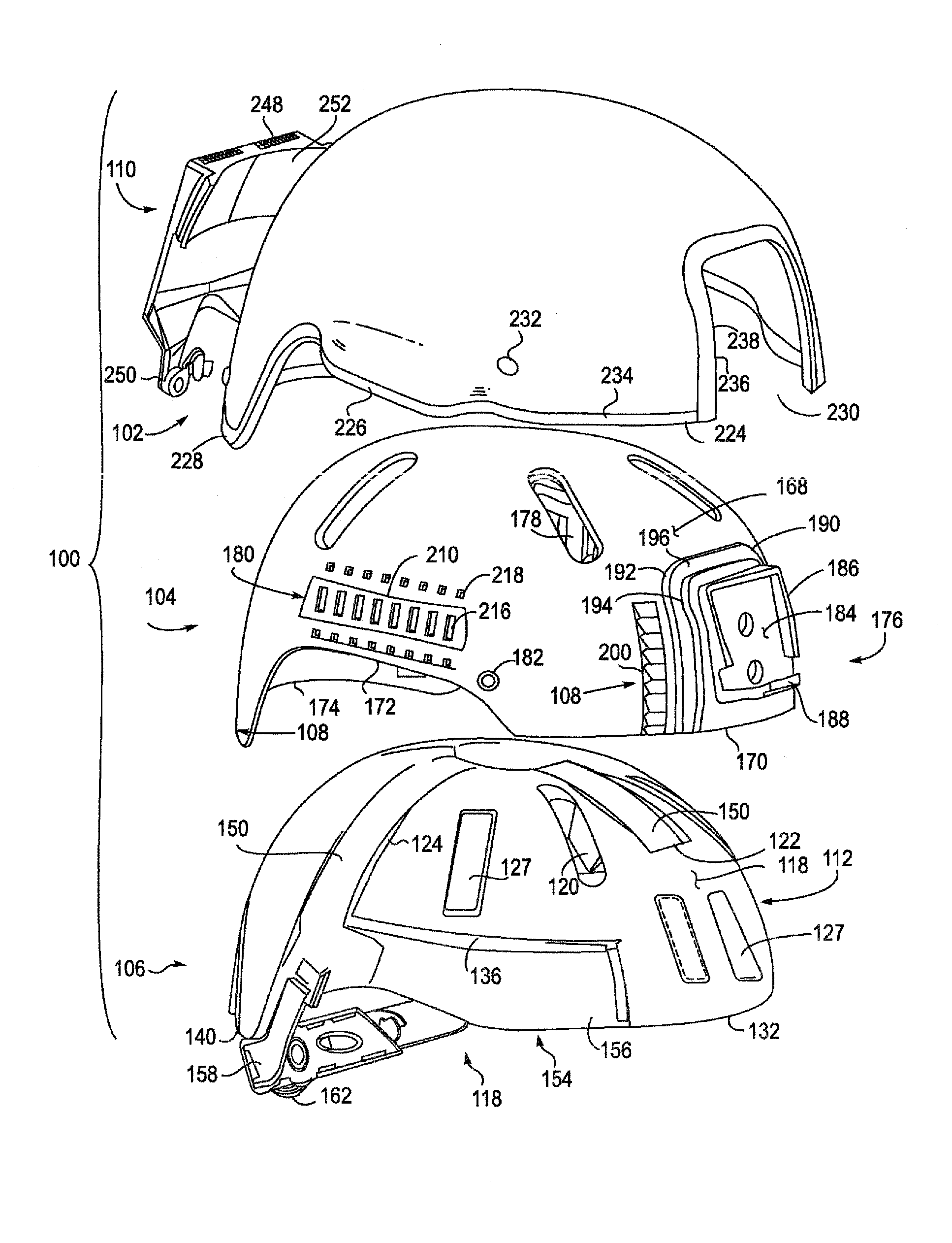 Patent Us20130000003 Headpiece Assembly Having Removable Ballistic 89 Ford E150 Van Wiring Diagram Drawing