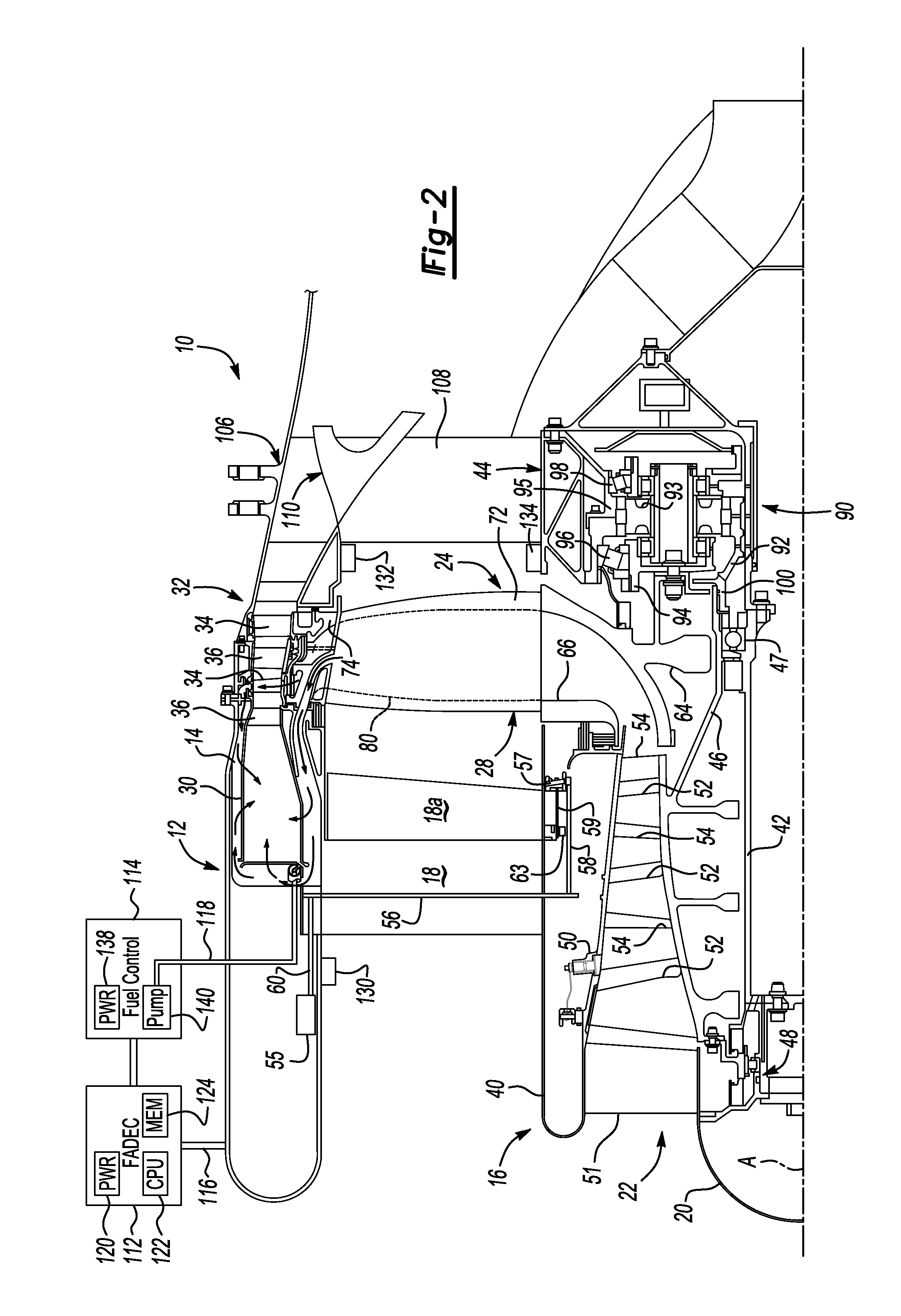 patent us20130019585 - variable fan inlet guide vane for turbine engine