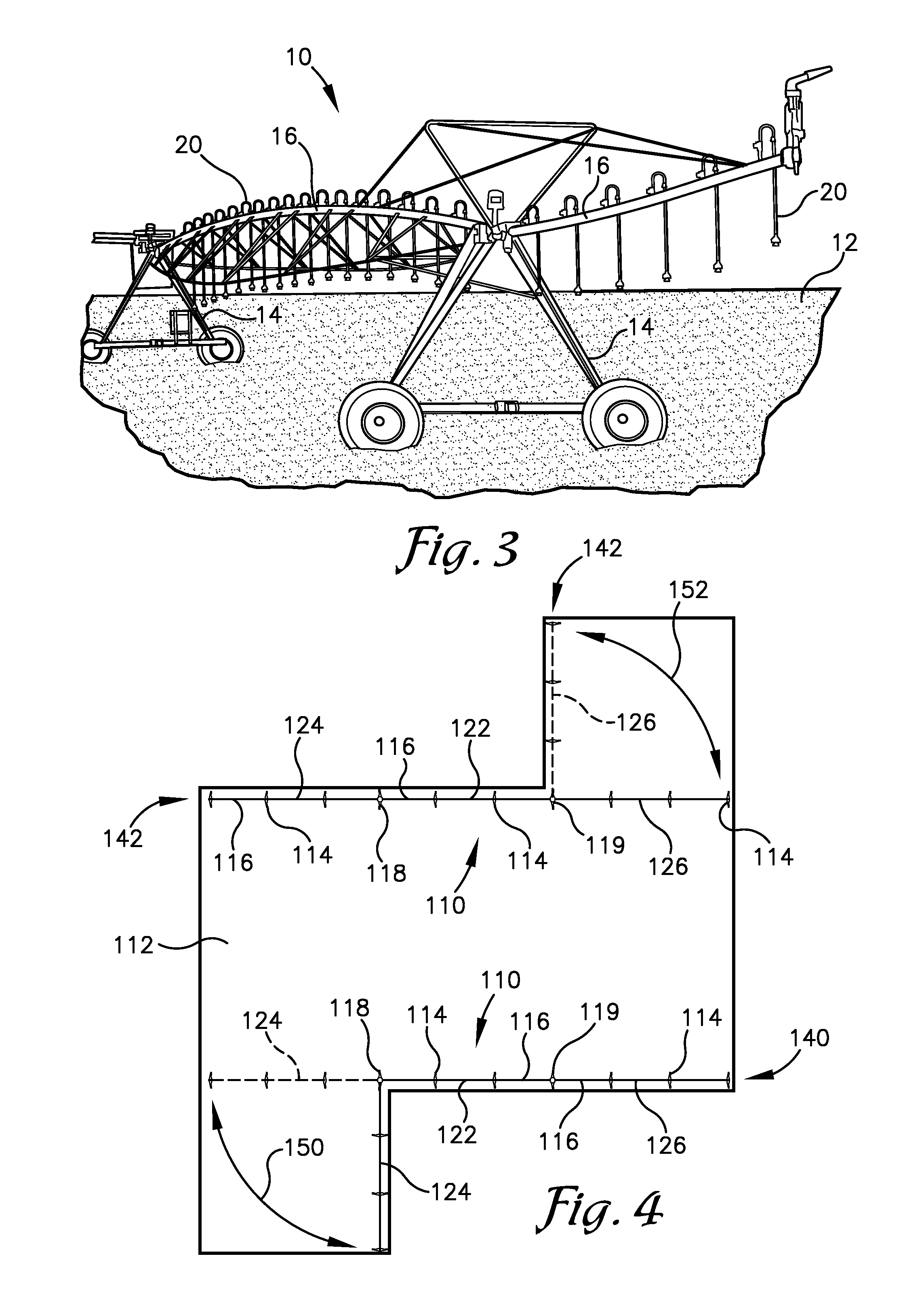 patent us20130026260 lateral irrigation system z fold spans patent drawing