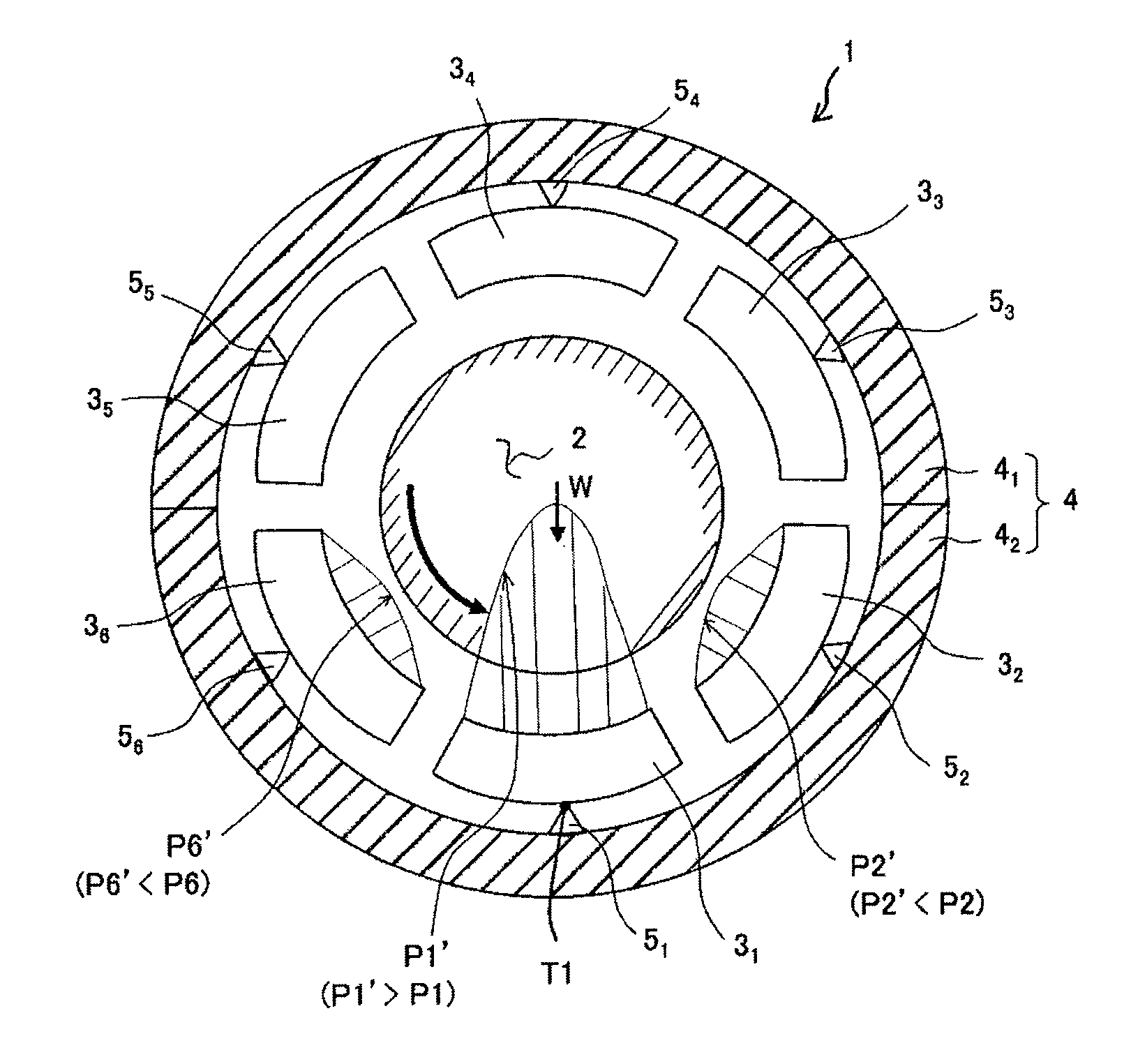 Patent US Tilting pad journal bearing and steam