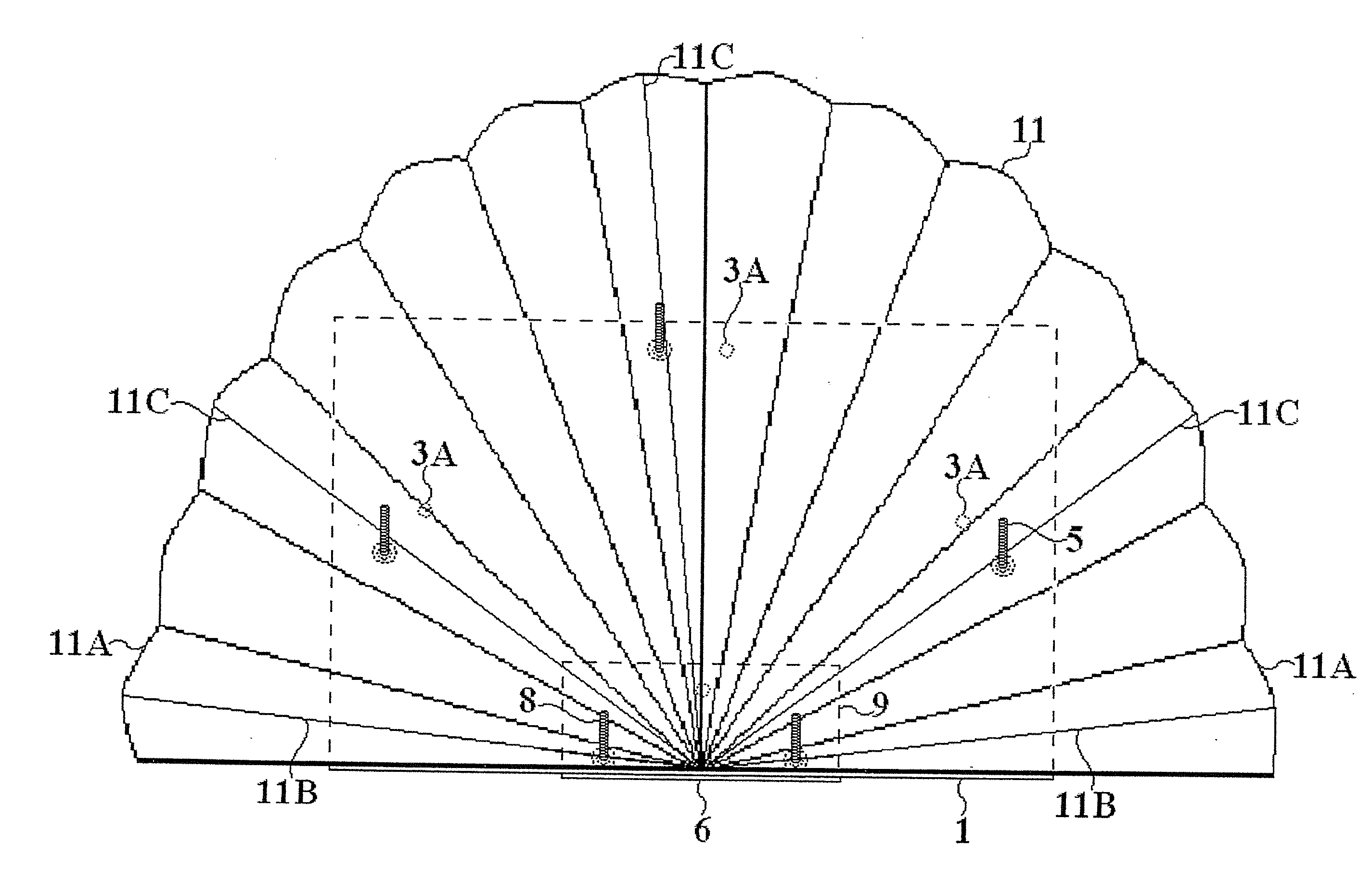 patent us20130045470 device for fixing a turkey tail fan