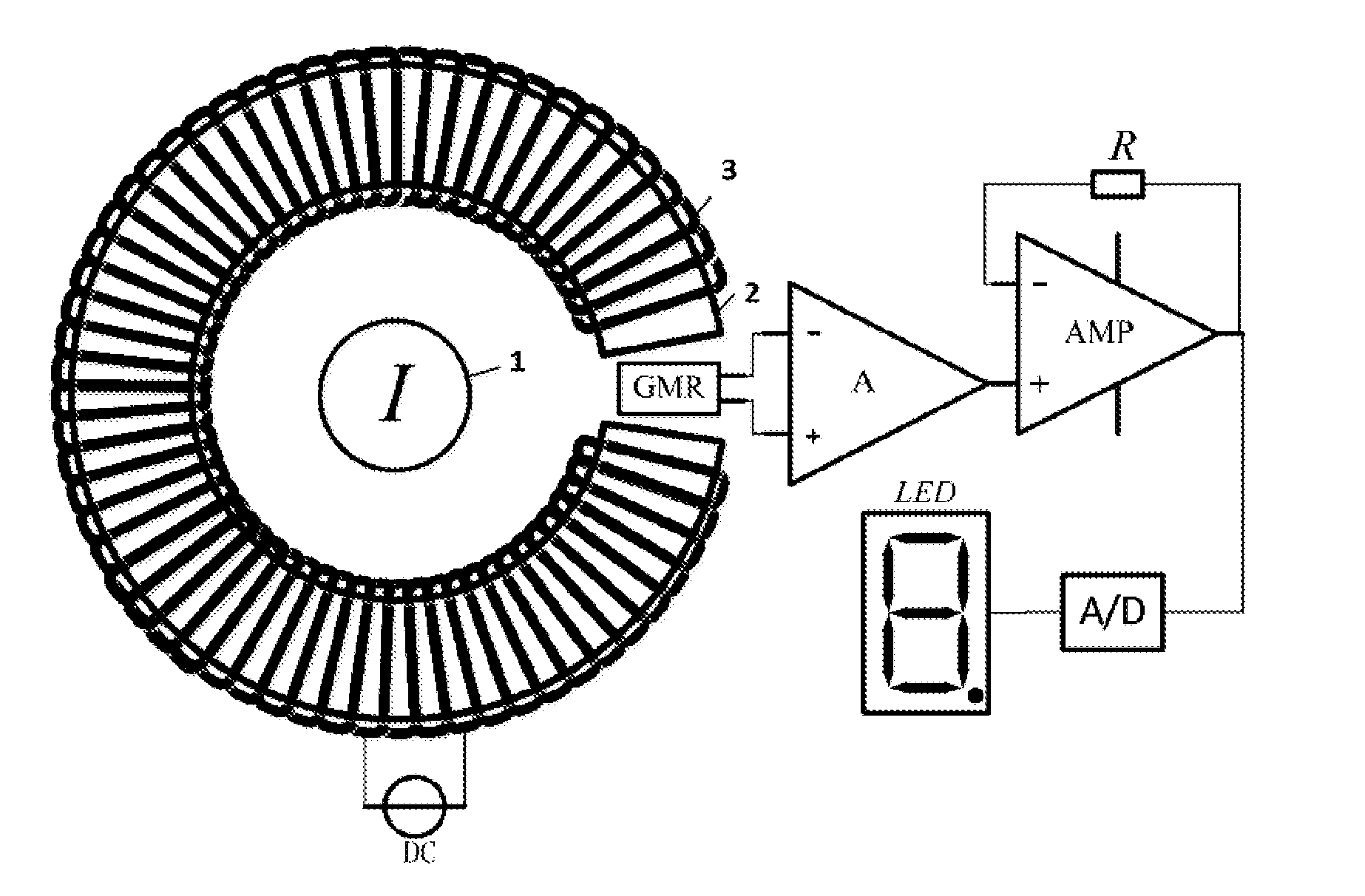 patent us20130049750 - giant magnetoresistance current sensor