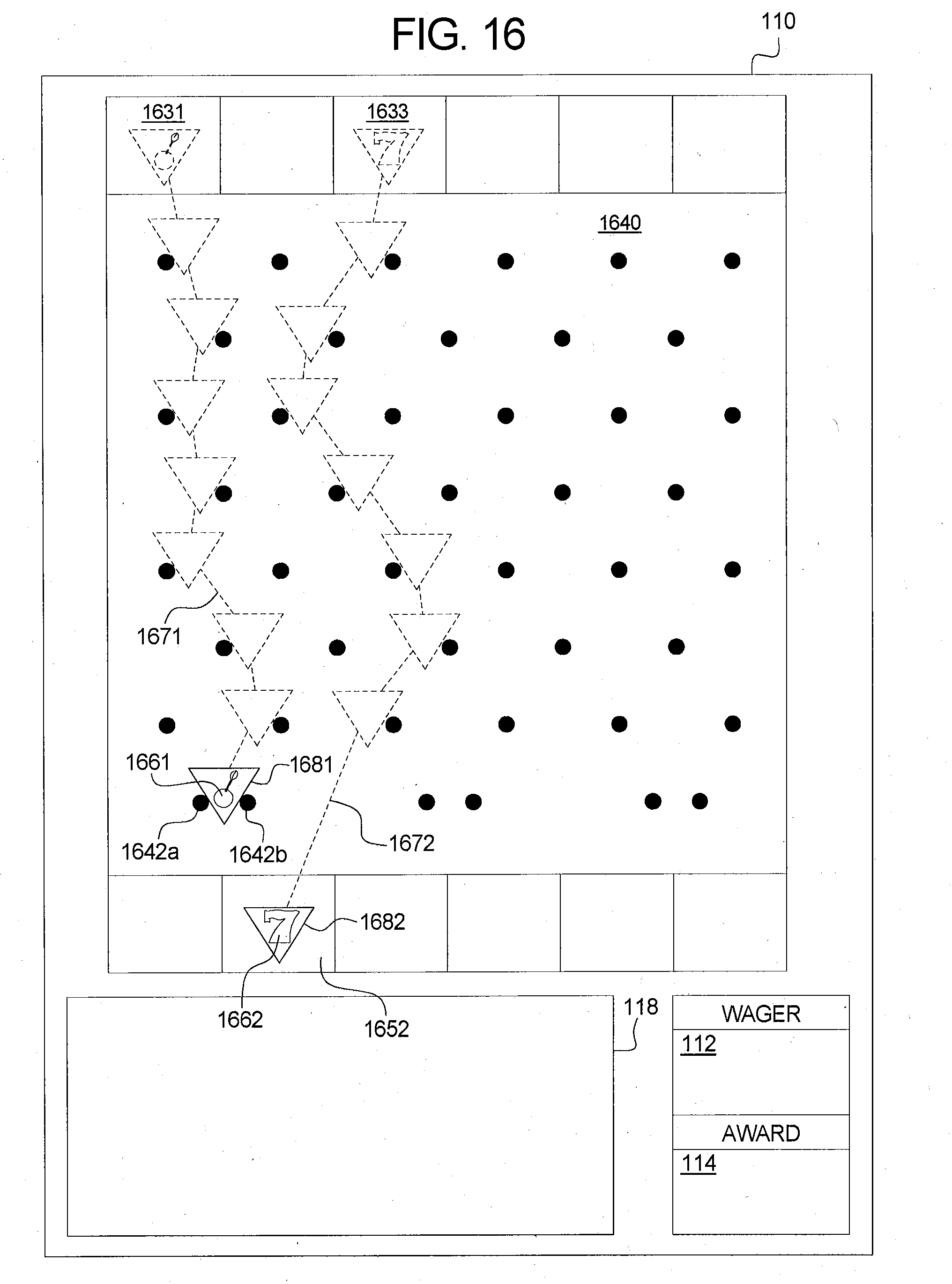 Patent Us20130053123 Gaming System Device And Plinko Board Layout Template