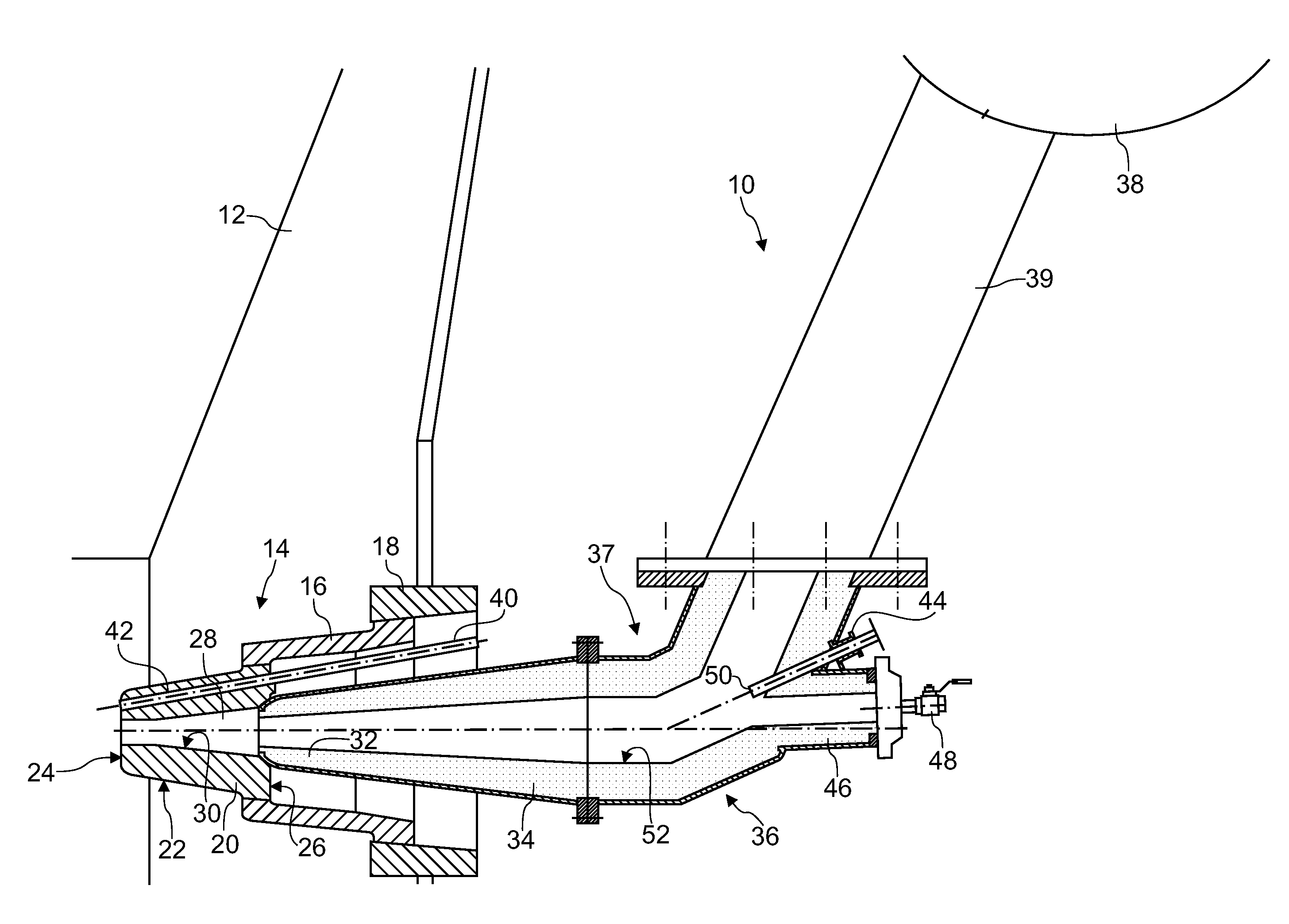 Patent us  tuyere stock arrangement of a blast