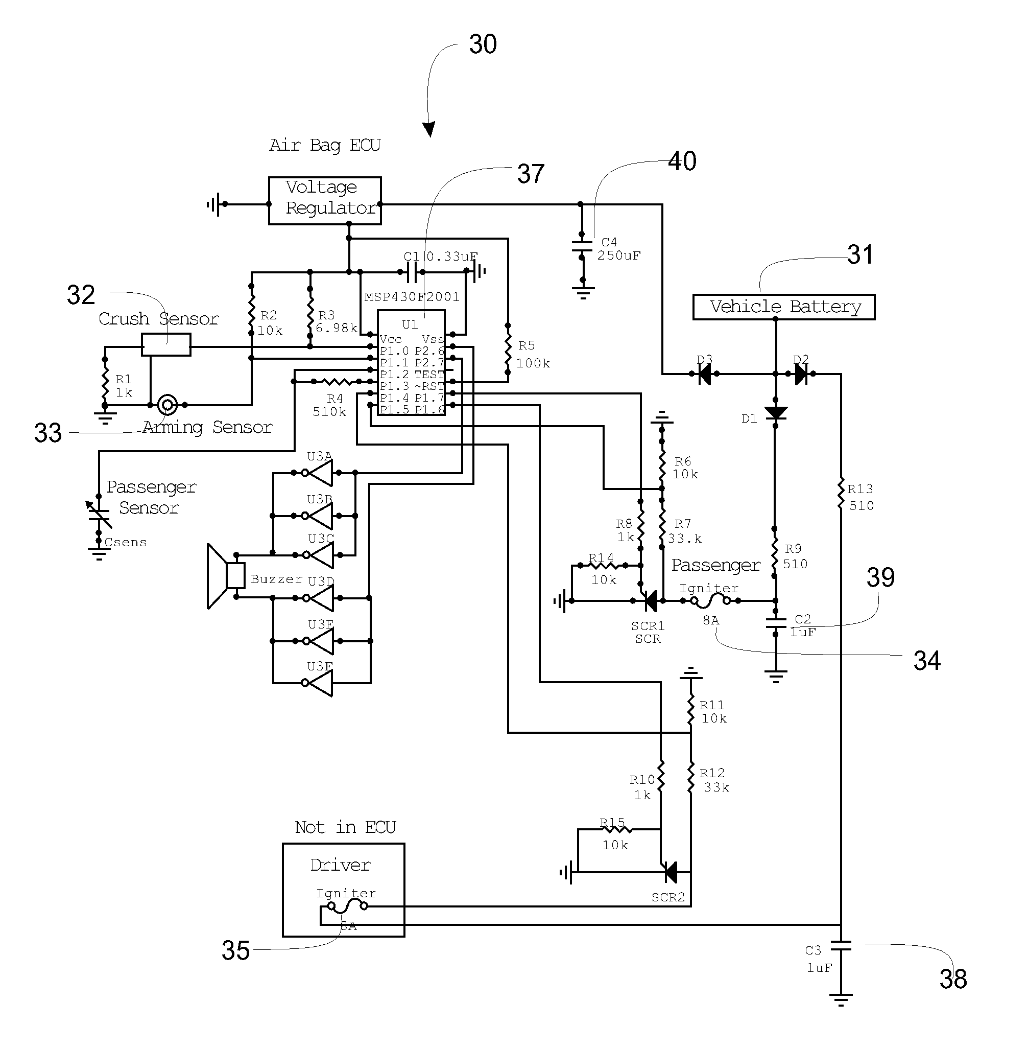 patent us20130062866 airbag system google patents patent drawing