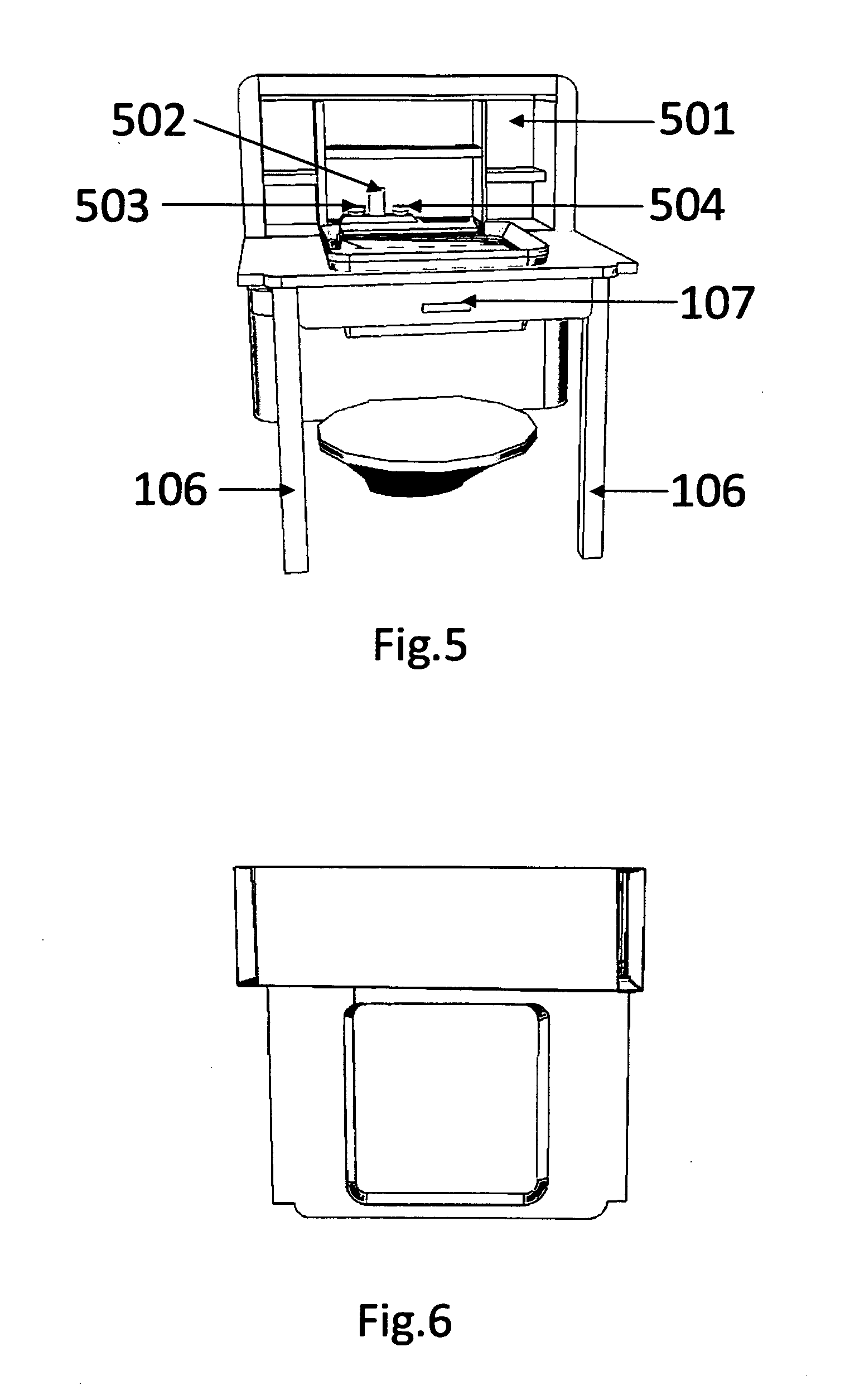 Bathroom sink drawing - Patent Drawing