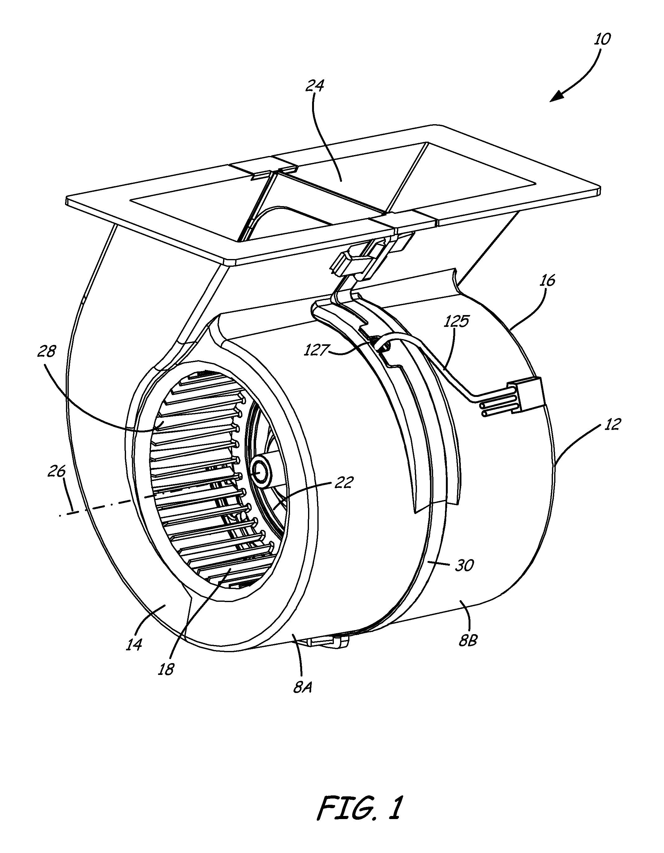 Patent US20130101449 Double Inlet Centrifugal Blower with Peripheral  #363636