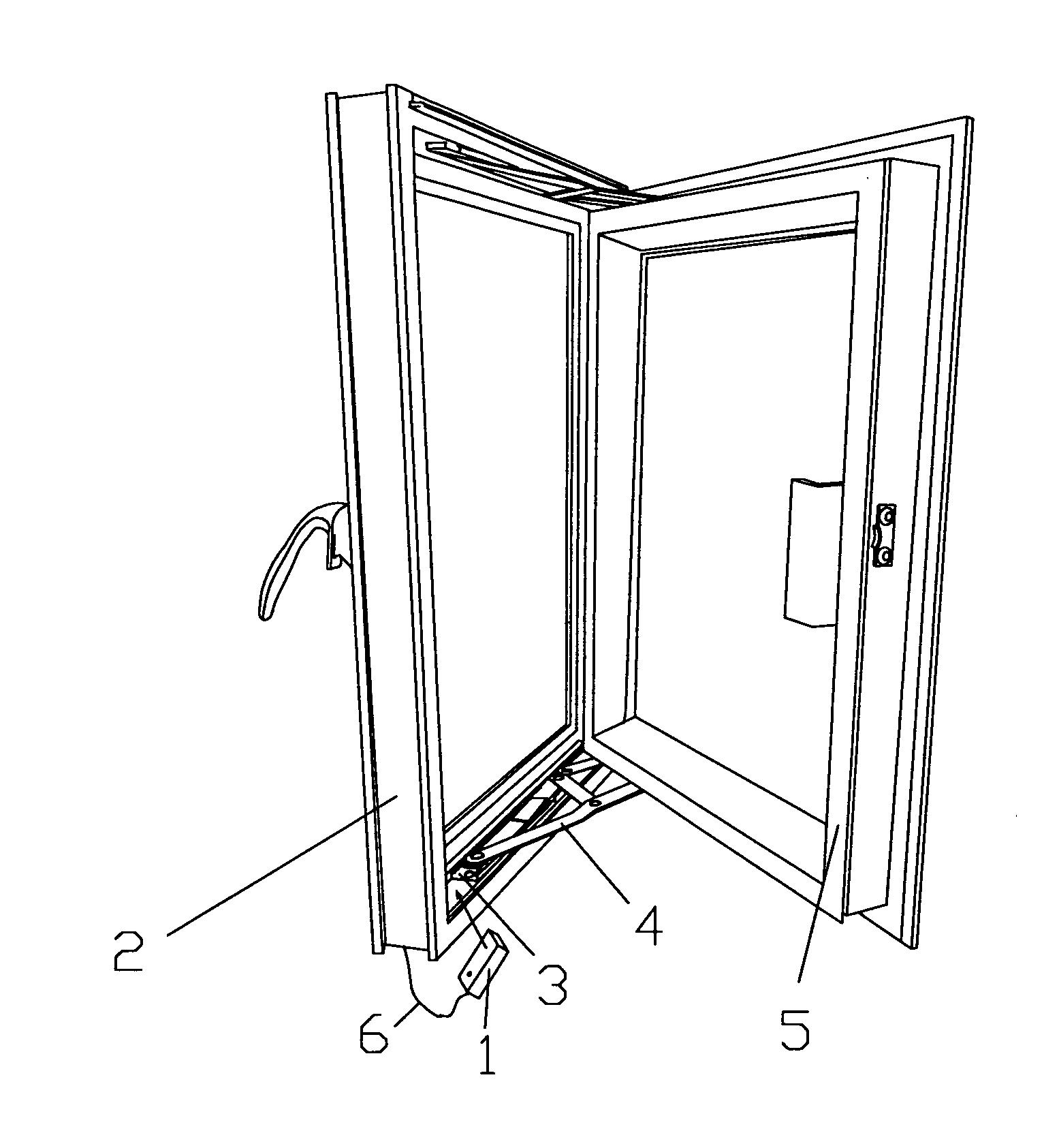 Casement Window Drawing : Patent us  casement window with multi angle