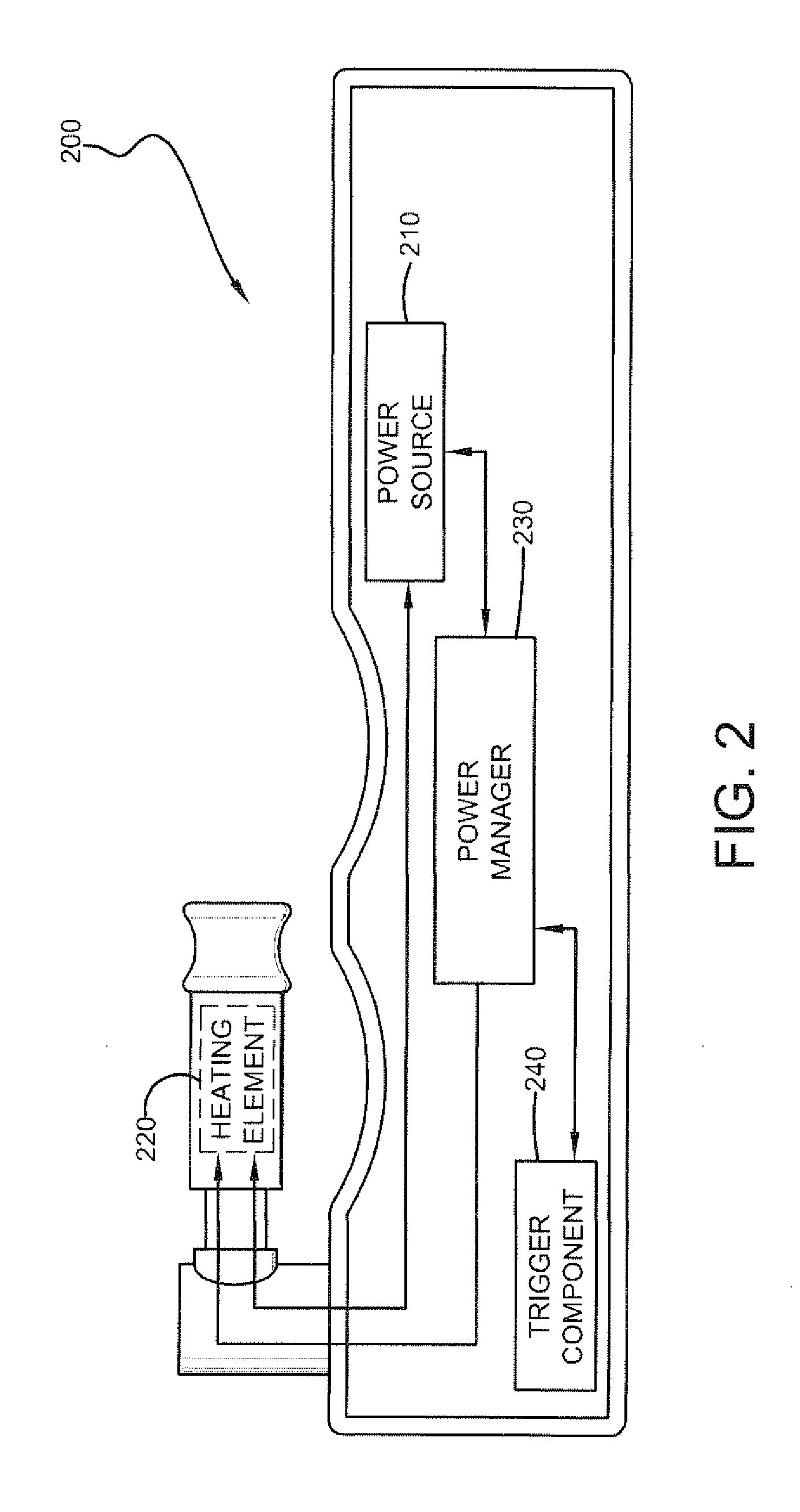 US20130104916A1 20130502 D00002 patent us20130104916 electronic vaporizer that simulates smoking vaporizer wiring diagram at bayanpartner.co