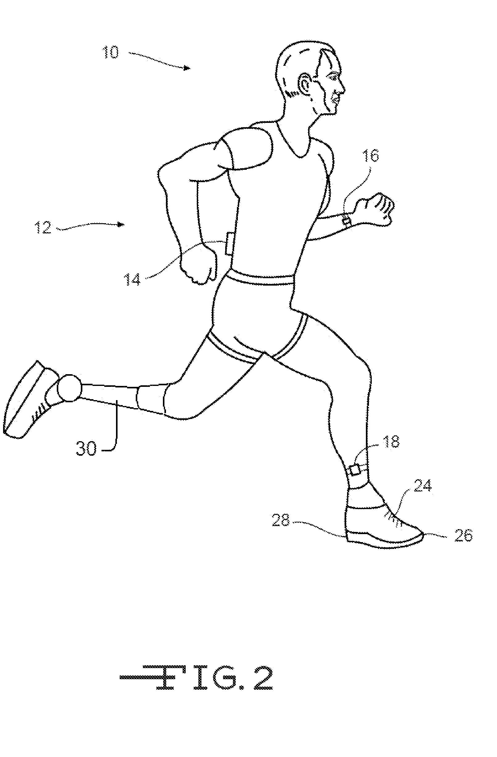 Patent us20130110011 method of monitoring human body for Body movement drawing