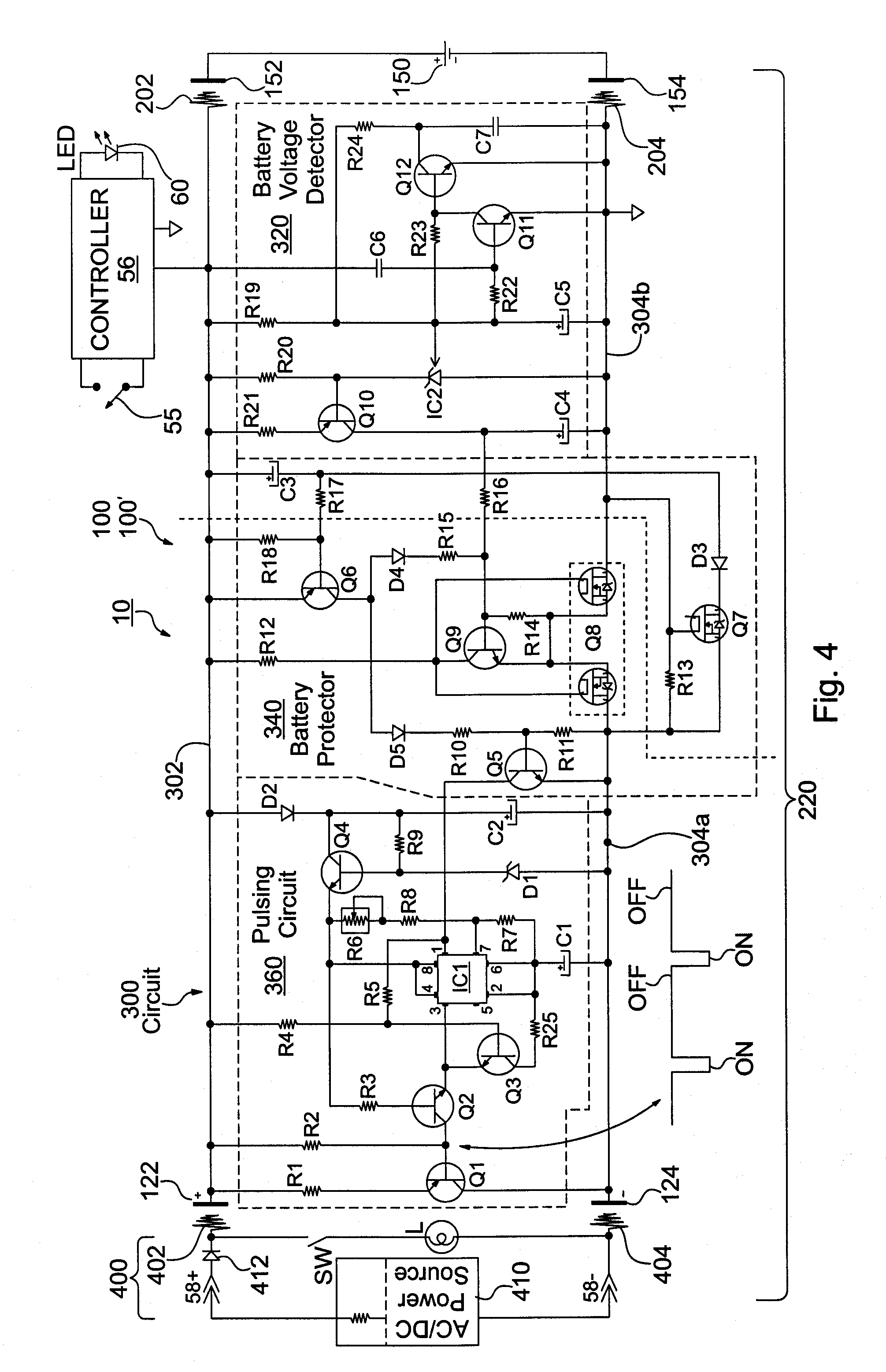 patent us20130128563 adapter circuitry for enabling charging and patent drawing