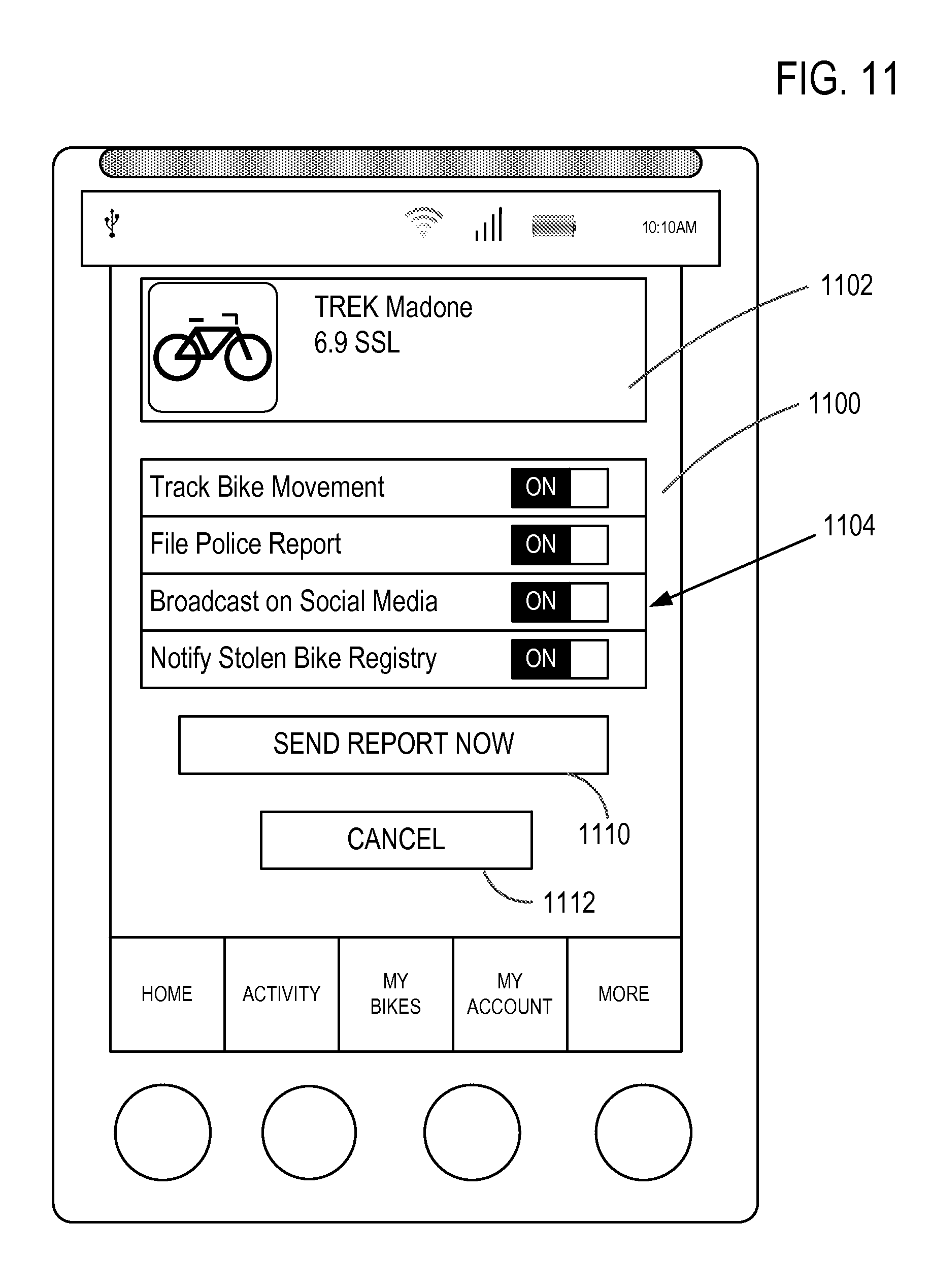 patent us bicycle theft monitoring and recovery