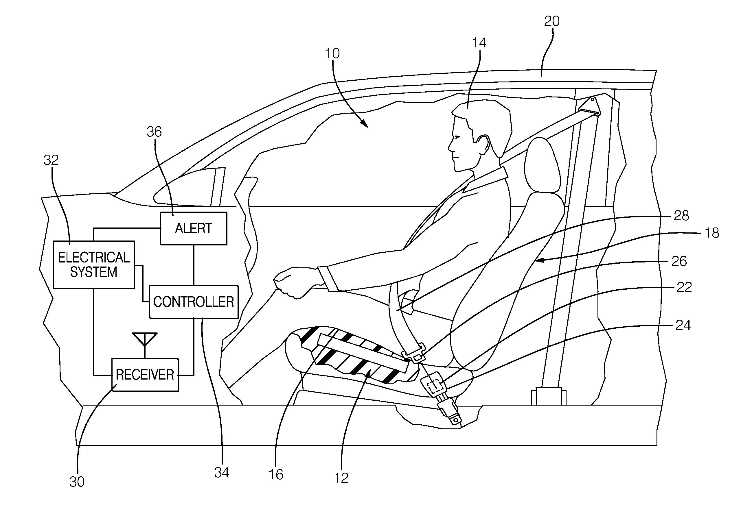 Patent Us20130300555 Seat Belt Reminder System Google Patents Wiring Diagram Drawing
