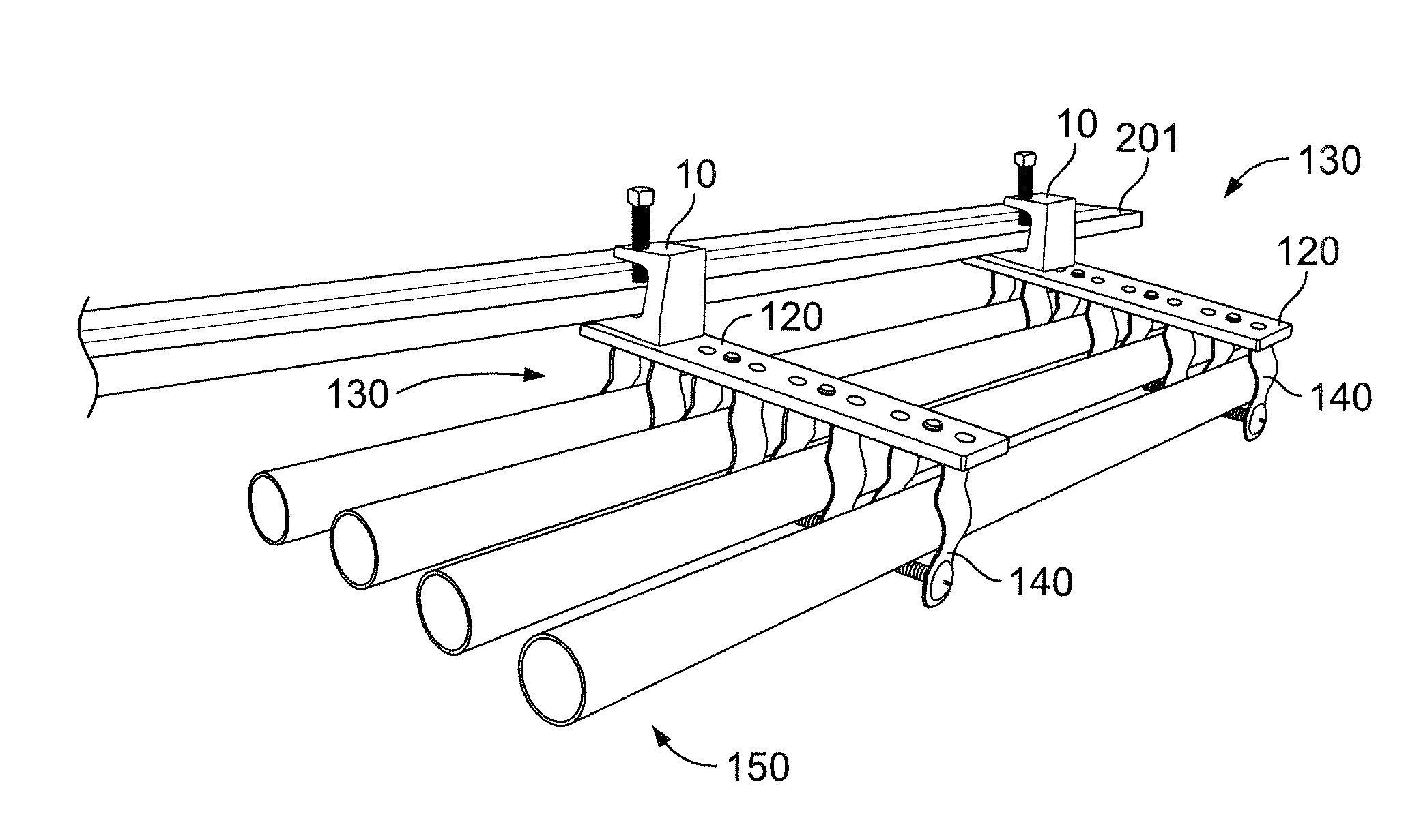 patent us20130320157 - utility conduit supporting device  system  and method
