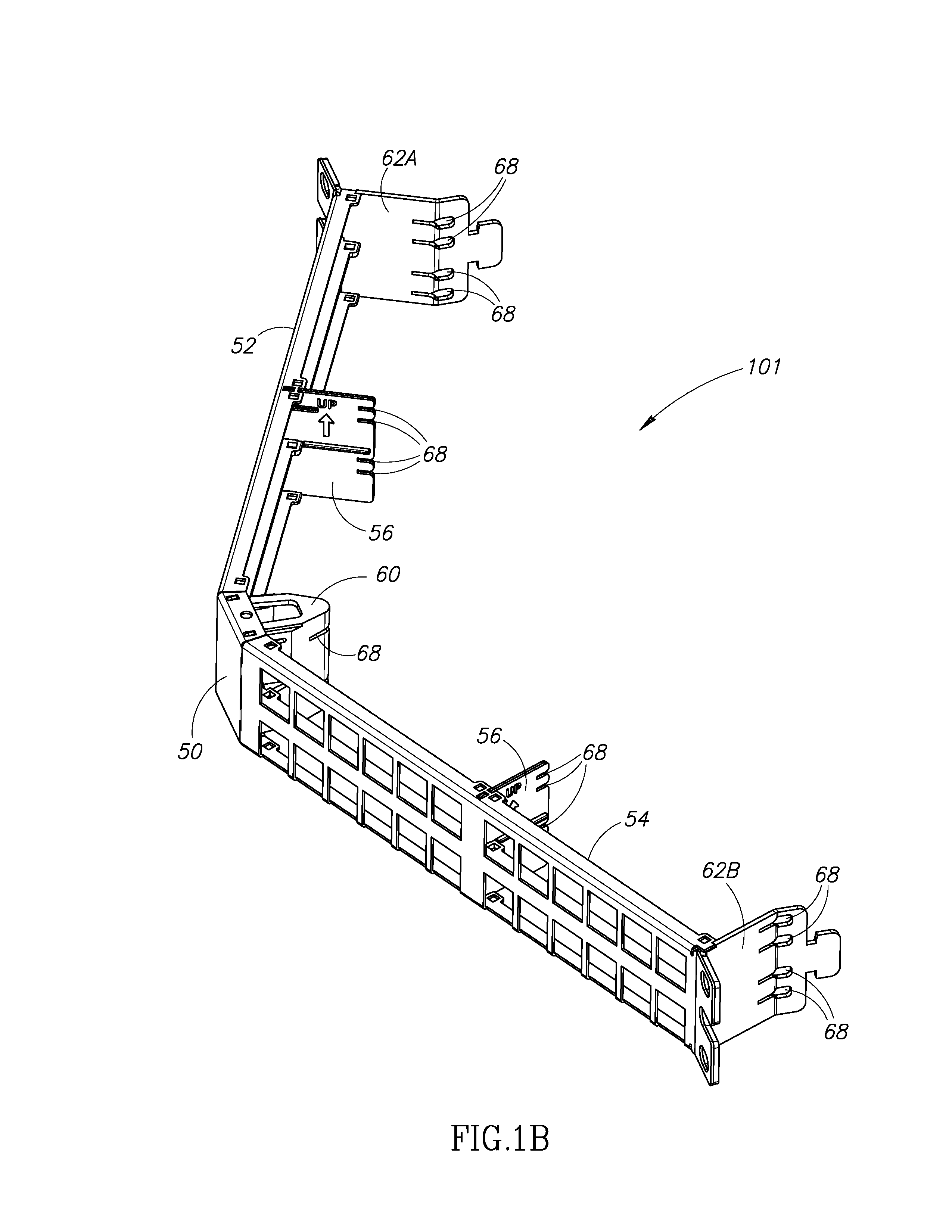 Patent Us20140037259 Low Profile Copper And Fiber Optic Cassettes Cat6 Patch Panel 110 Type 48 Port Likewise Wiring Diagram Drawing