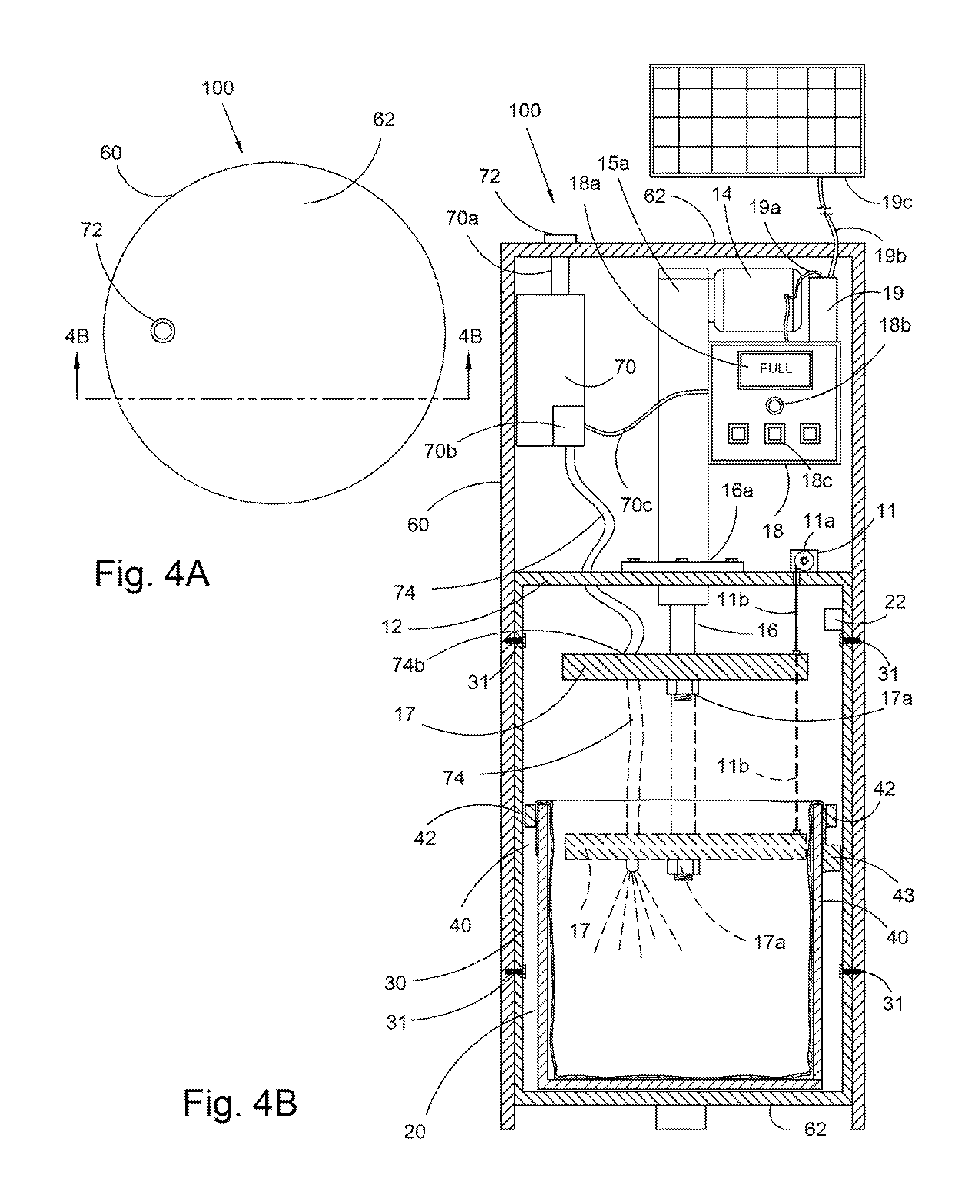 How Does A Trash Compactor Work Patent Us20140041535 Trash Compactor Having A Linear Actuator