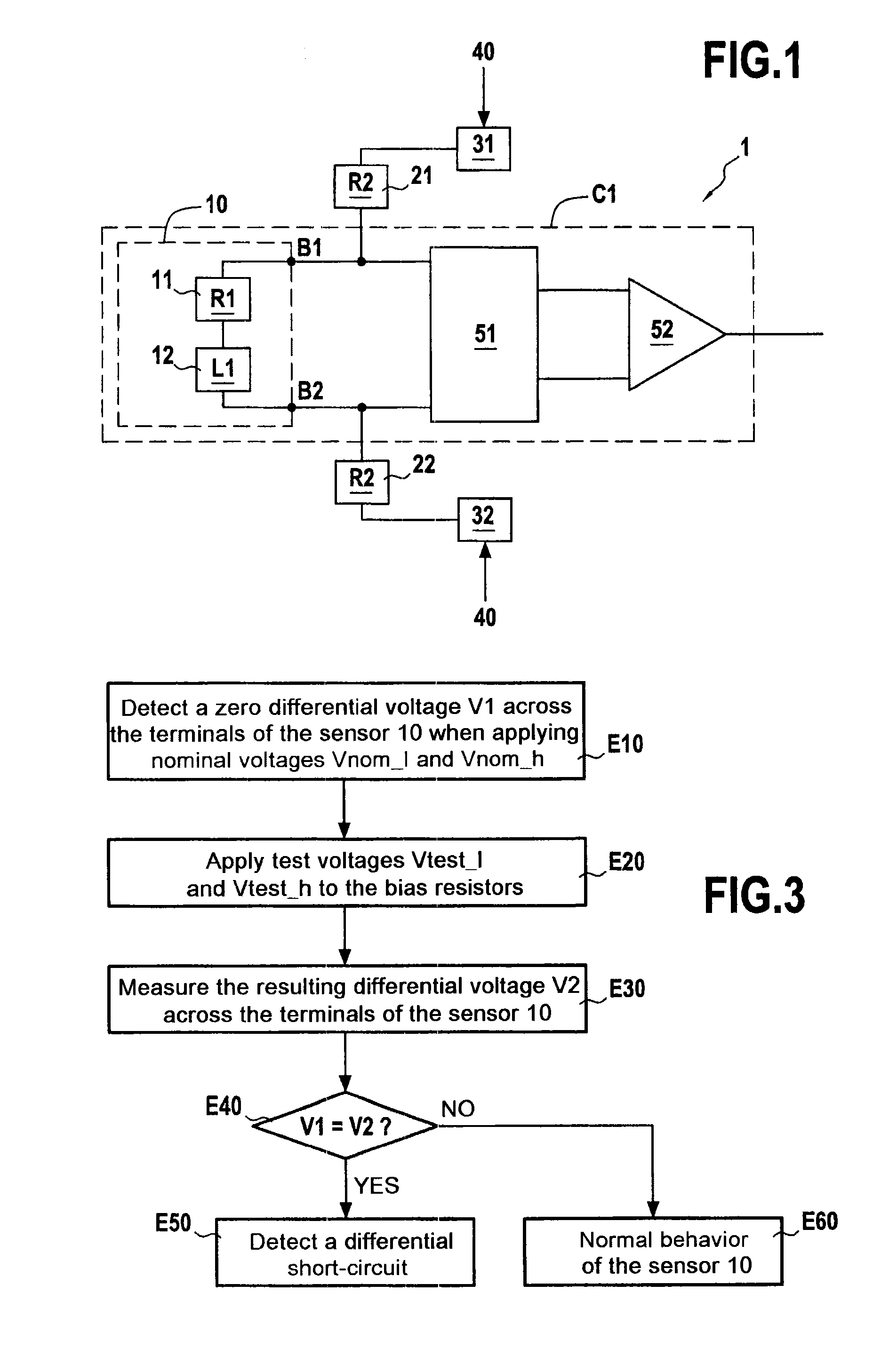 Patent Us20140145728 Method And System For Detecting A Short Sensing Across The Parallel Circuit Resistor Drawing