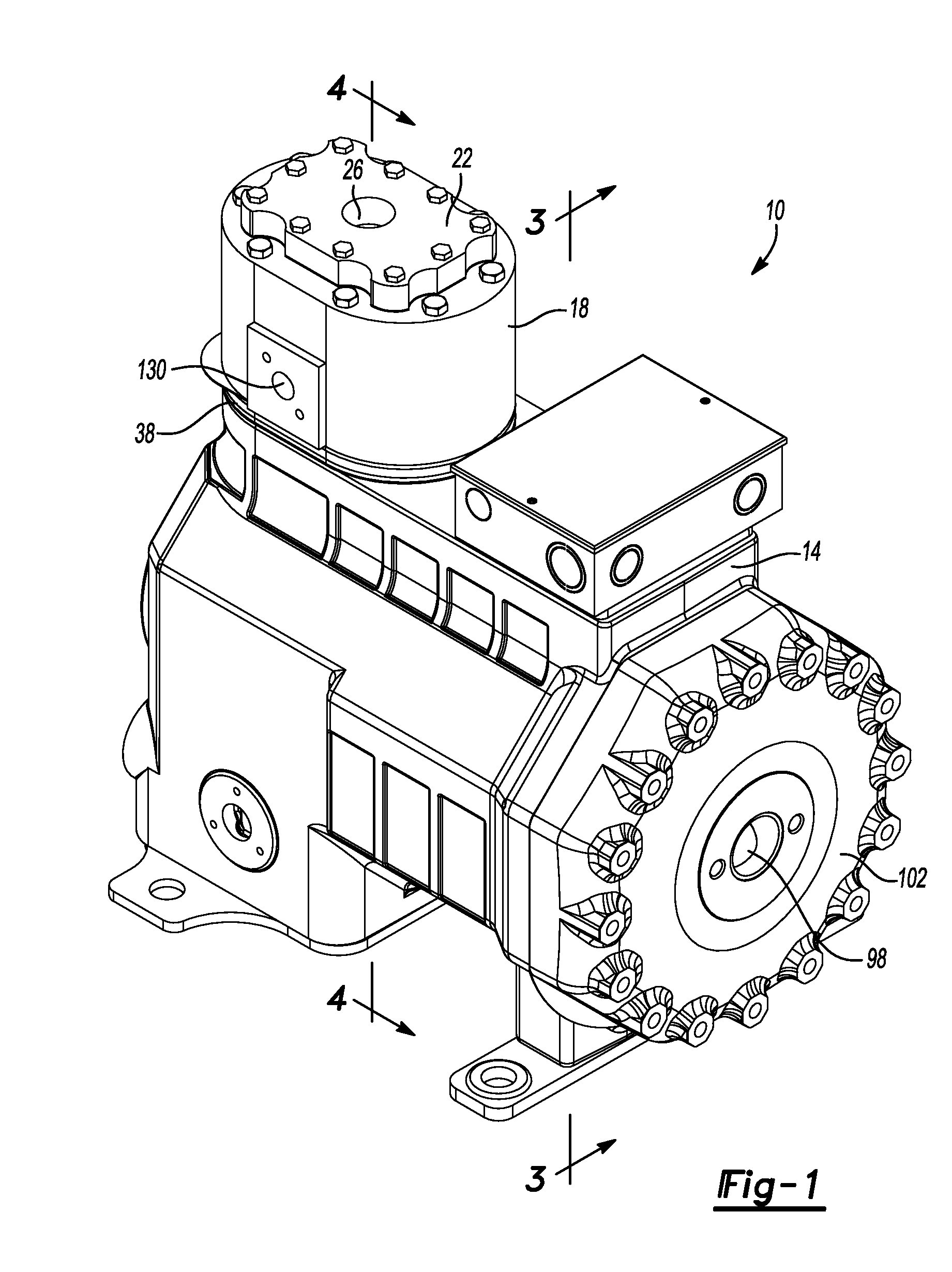 patent us20140170003 - reciprocating compressor with vapor injection system