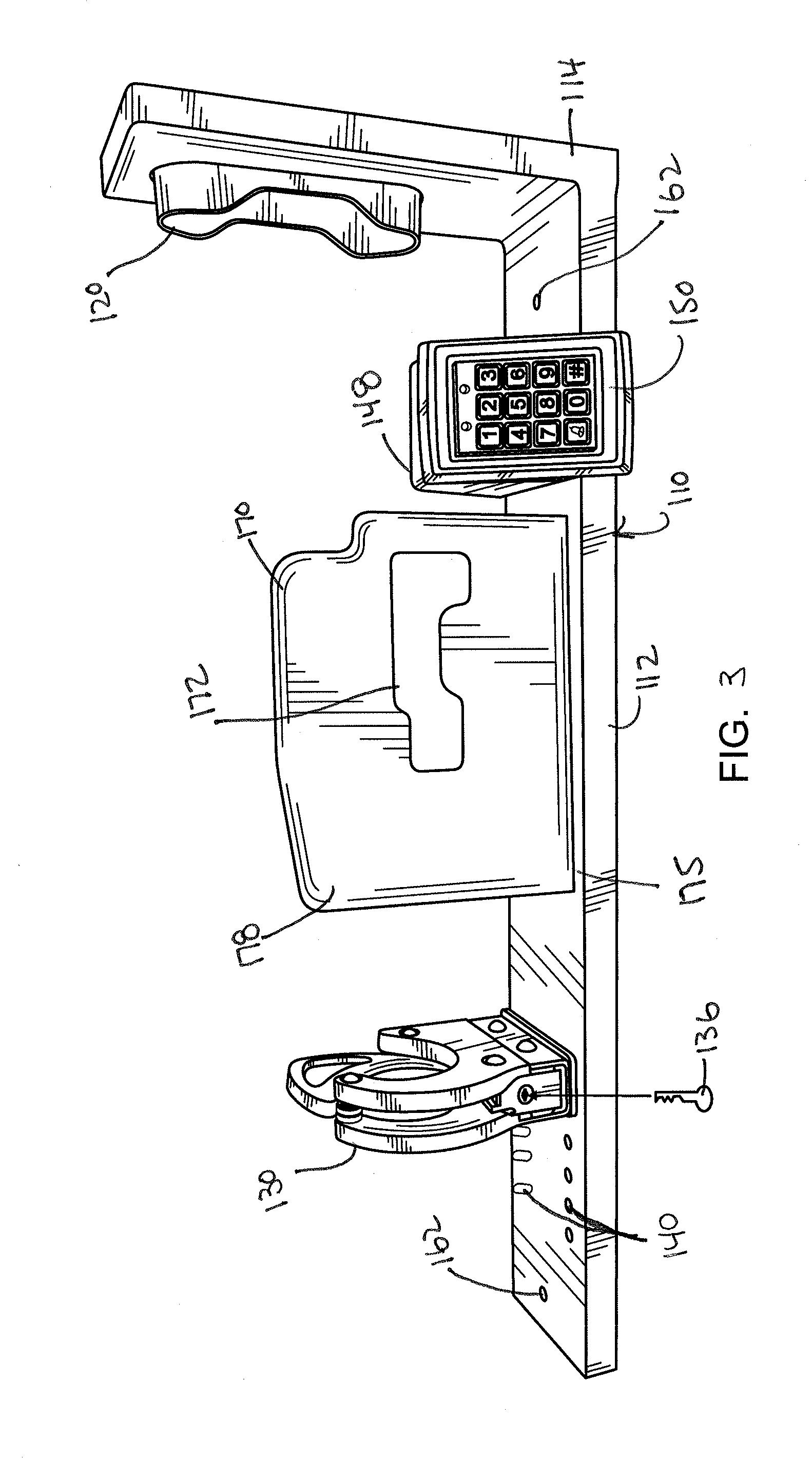 US20140263107A1 20140918 D00003 patent us20140263107 locking gun rack system with quick pro gard gun lock timer wiring diagram at honlapkeszites.co