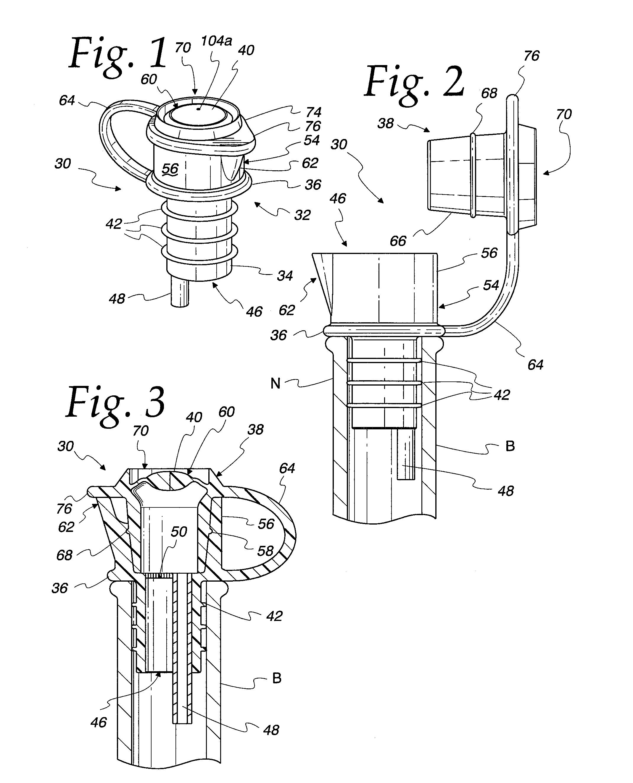 patent us20140263453 vacuum bottle stopper for wine and method google patents. Black Bedroom Furniture Sets. Home Design Ideas