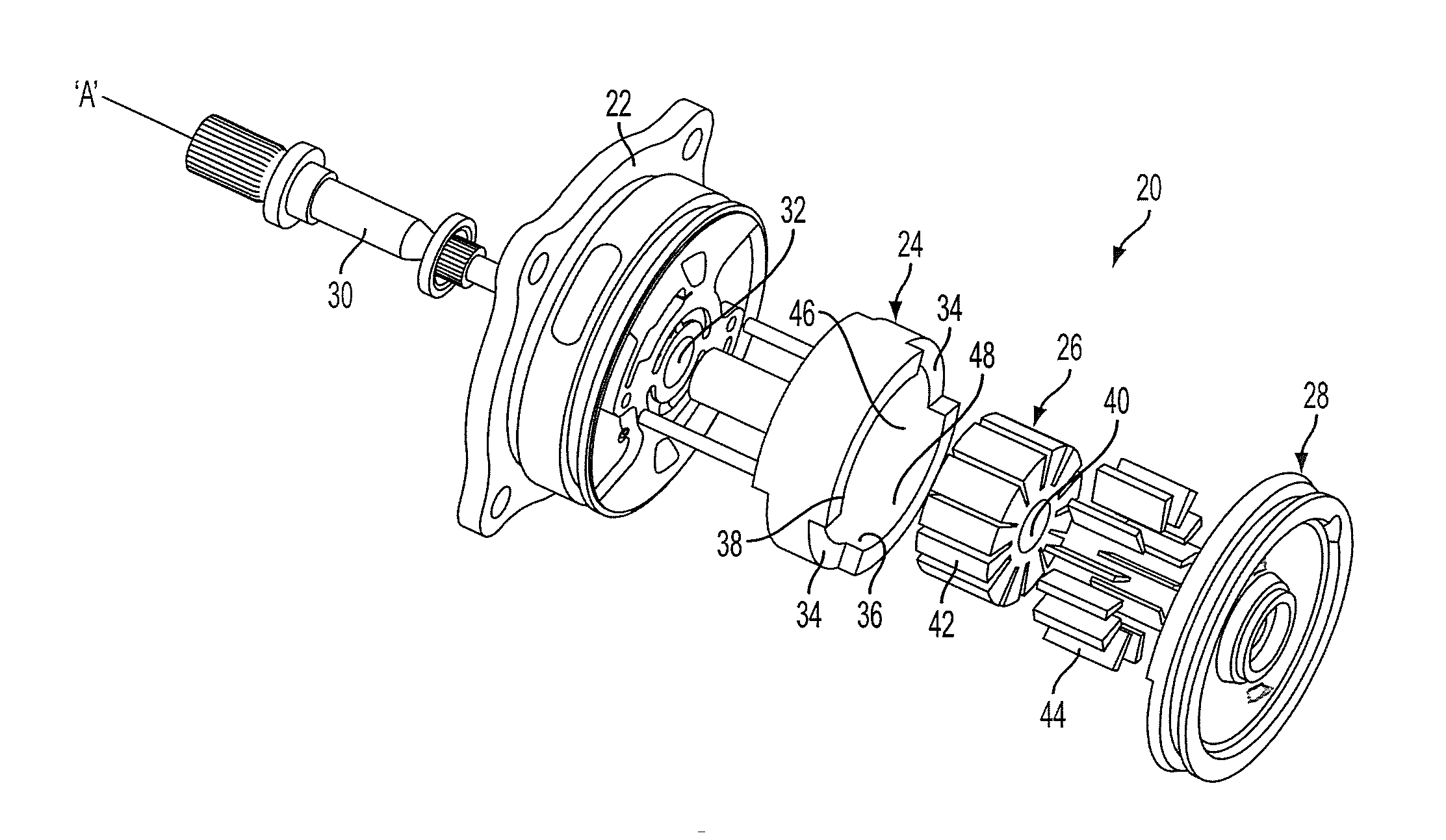 Patent Us20140271299 - Hydraulically Balanced Stepwise Variable Displacement Vane Pump