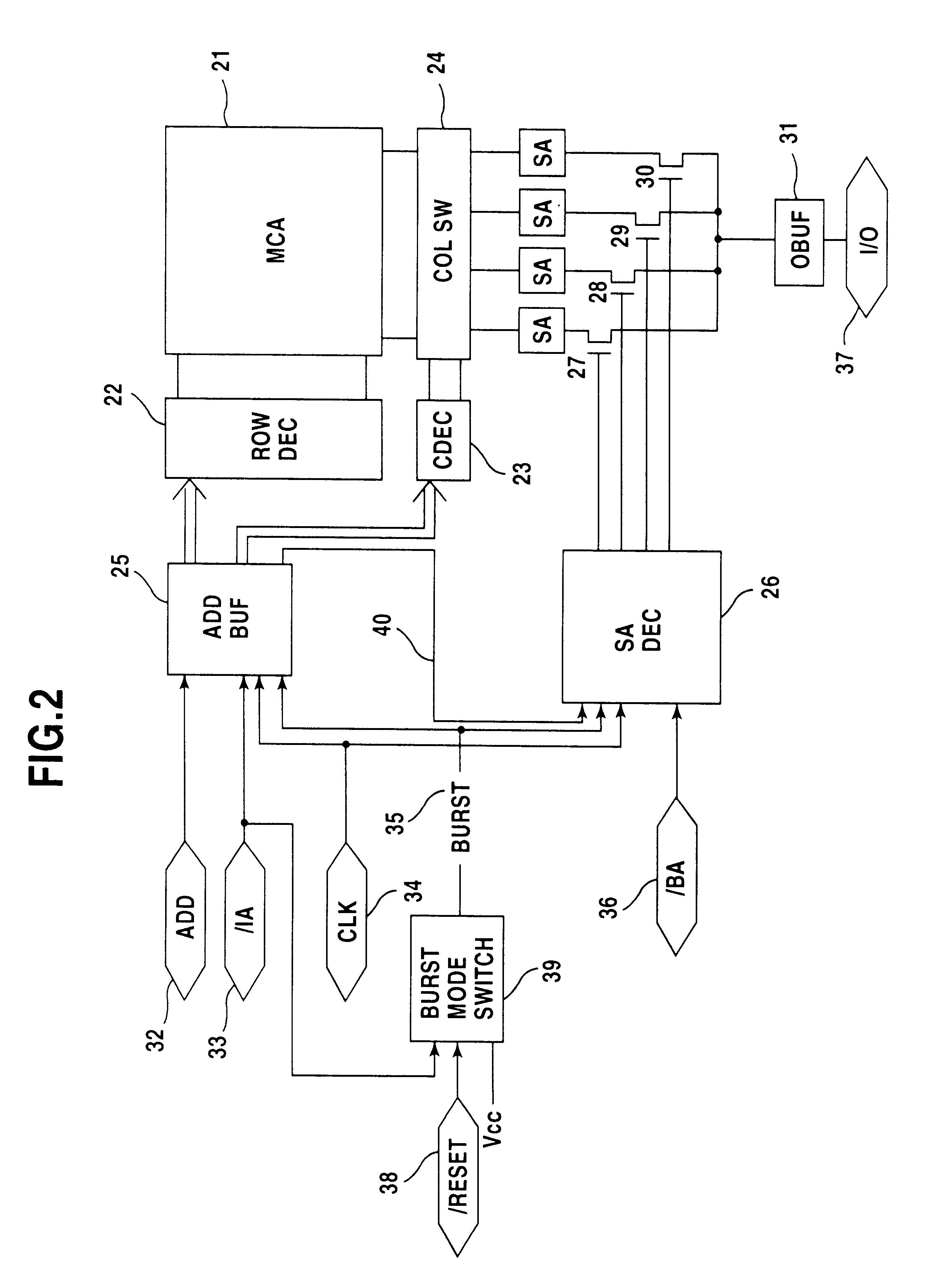 patent us6172936 - memory circuit
