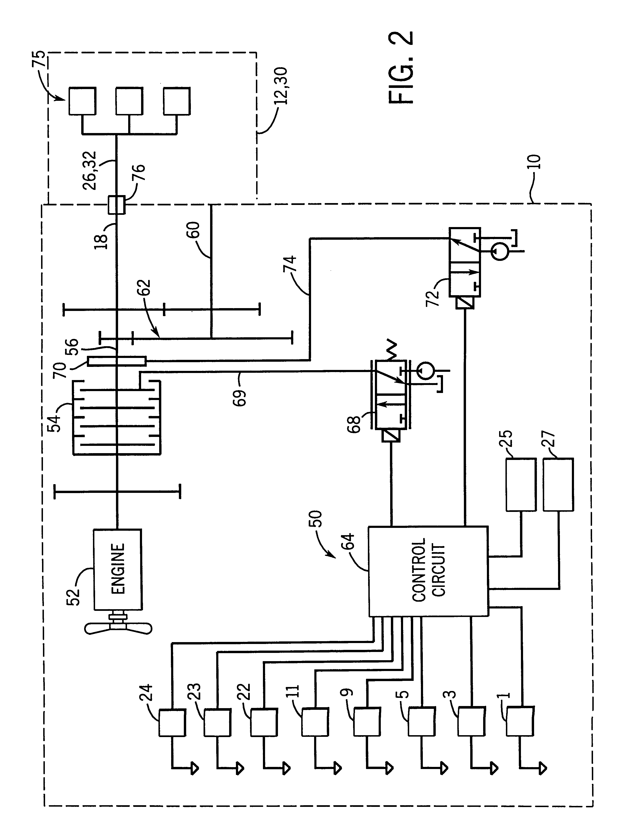patent us6173225 power takeoff control system google patents patent drawing