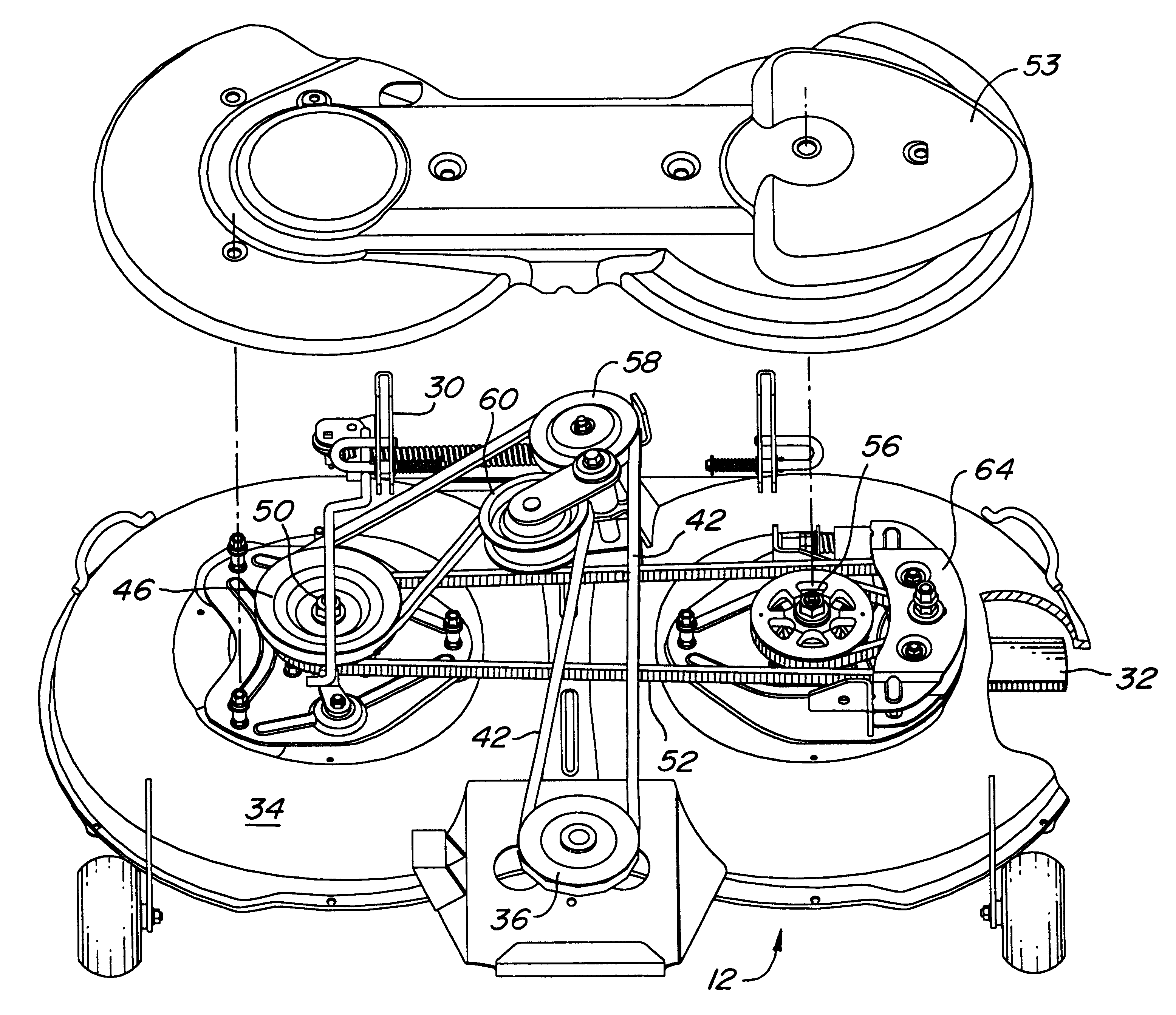 john deere lt166 belt diagram