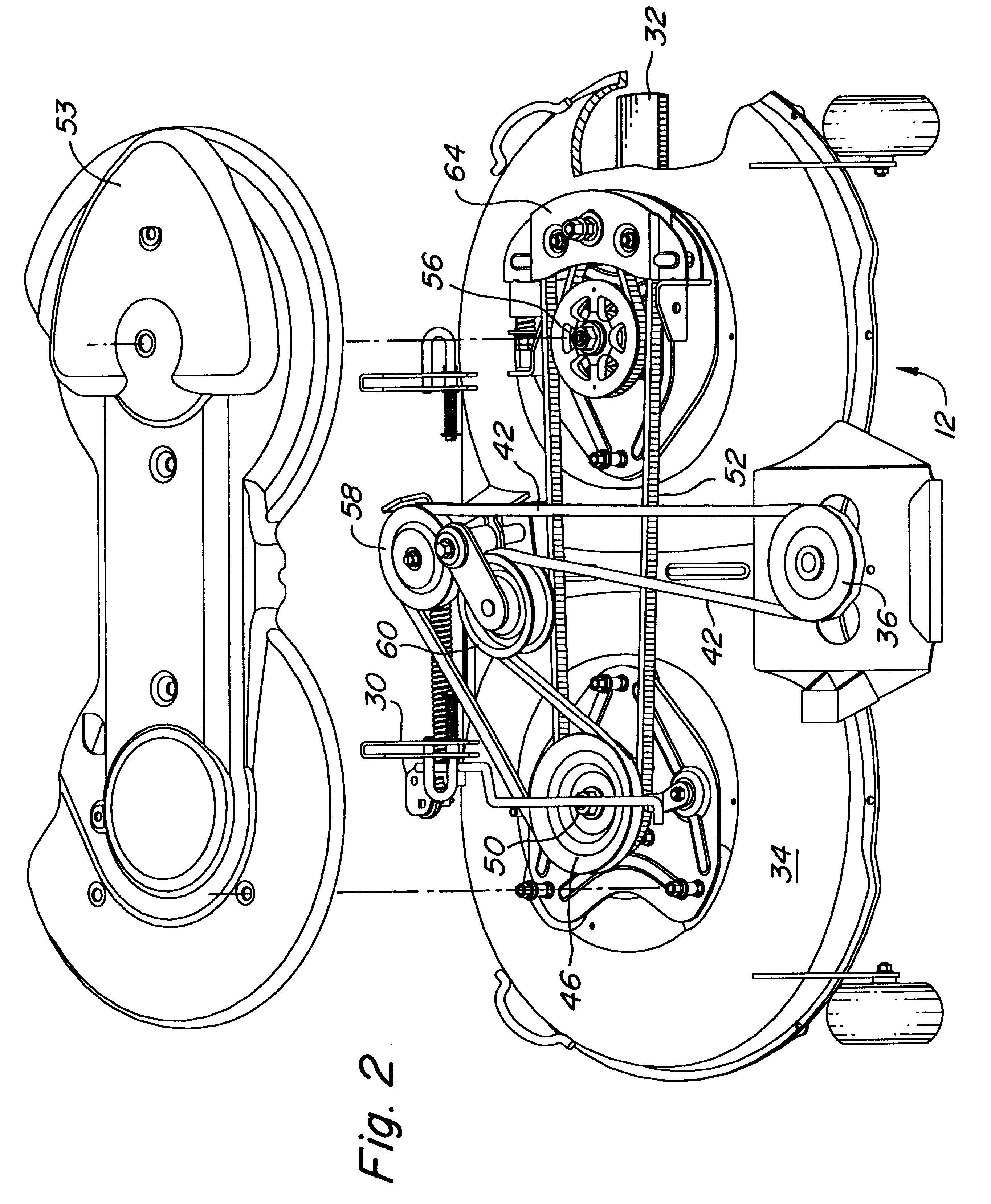 Patent US6176071 - Tensioning idler assembly for mower deck belt ...