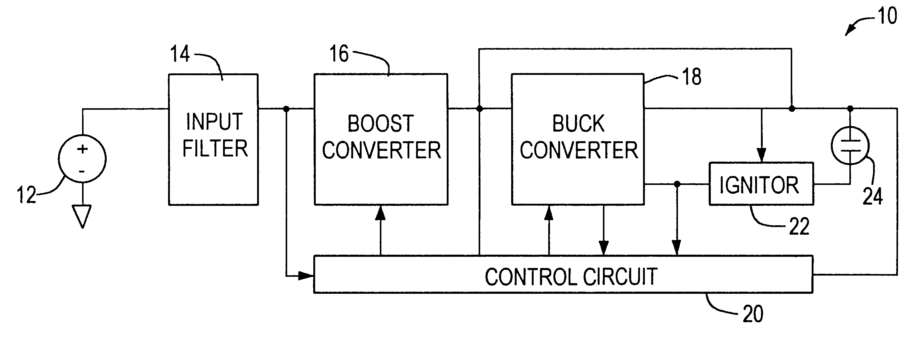 Brevet Us6181084 Ballast Circuit For High Intensity Discharge Dc To Ac Inverter Moreover Buck Boost Converter Patent Drawing