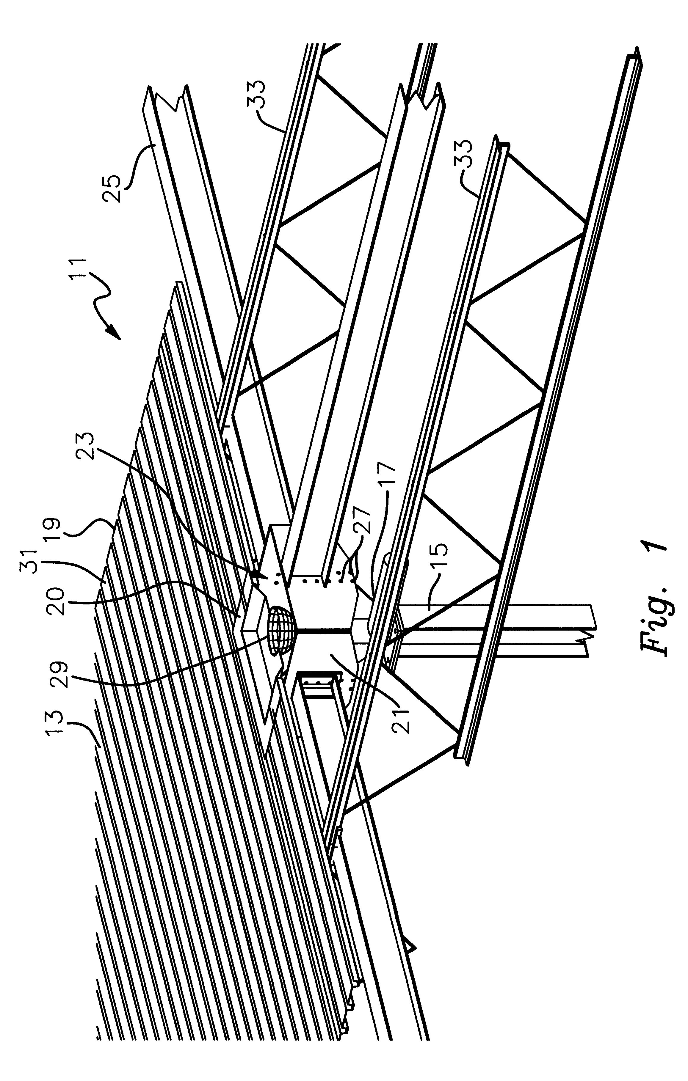 patent us6185889 - flat style roof drainage system and low point column head