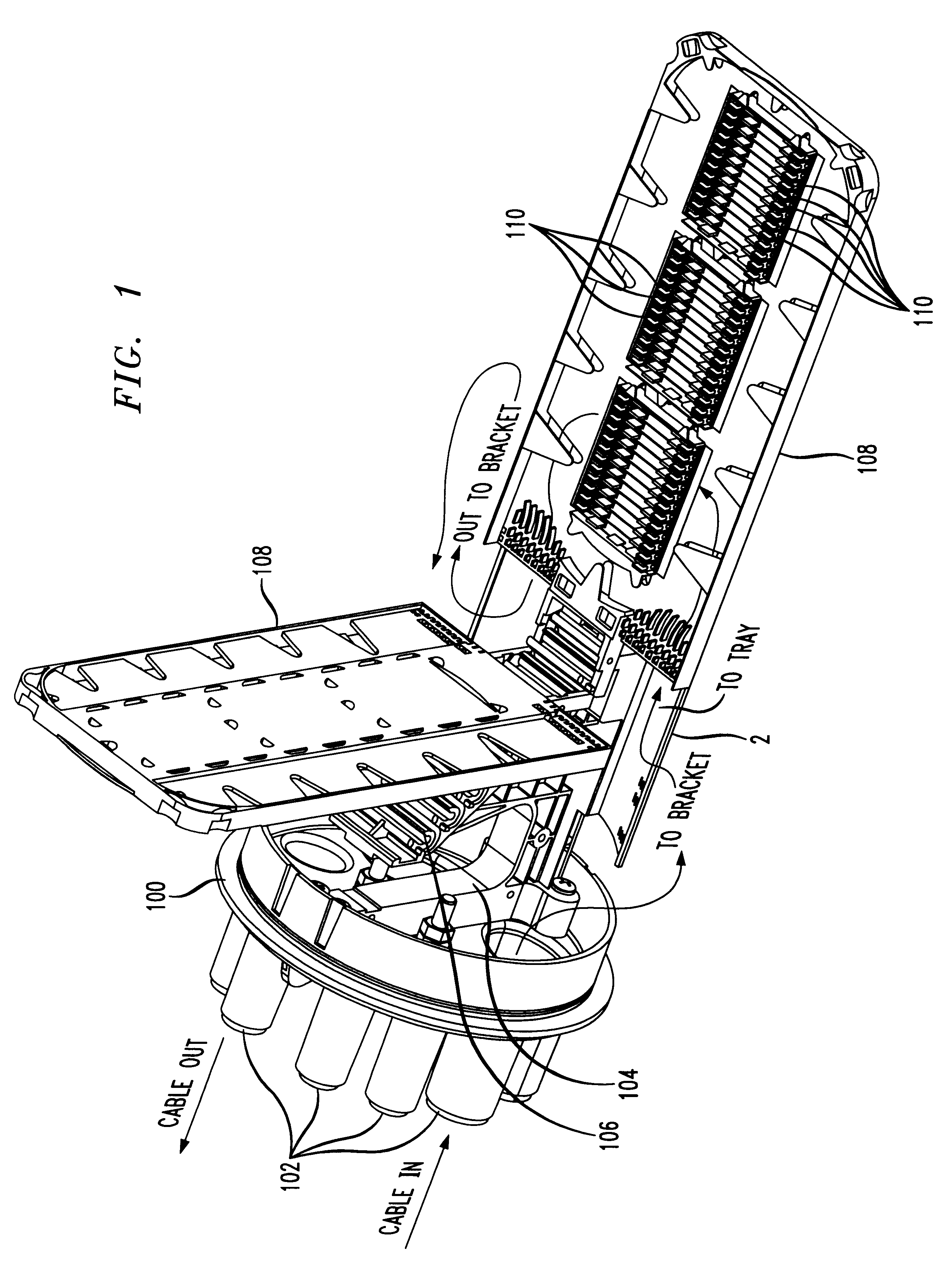 patent us6188826 - optic fiber slack storage bracket