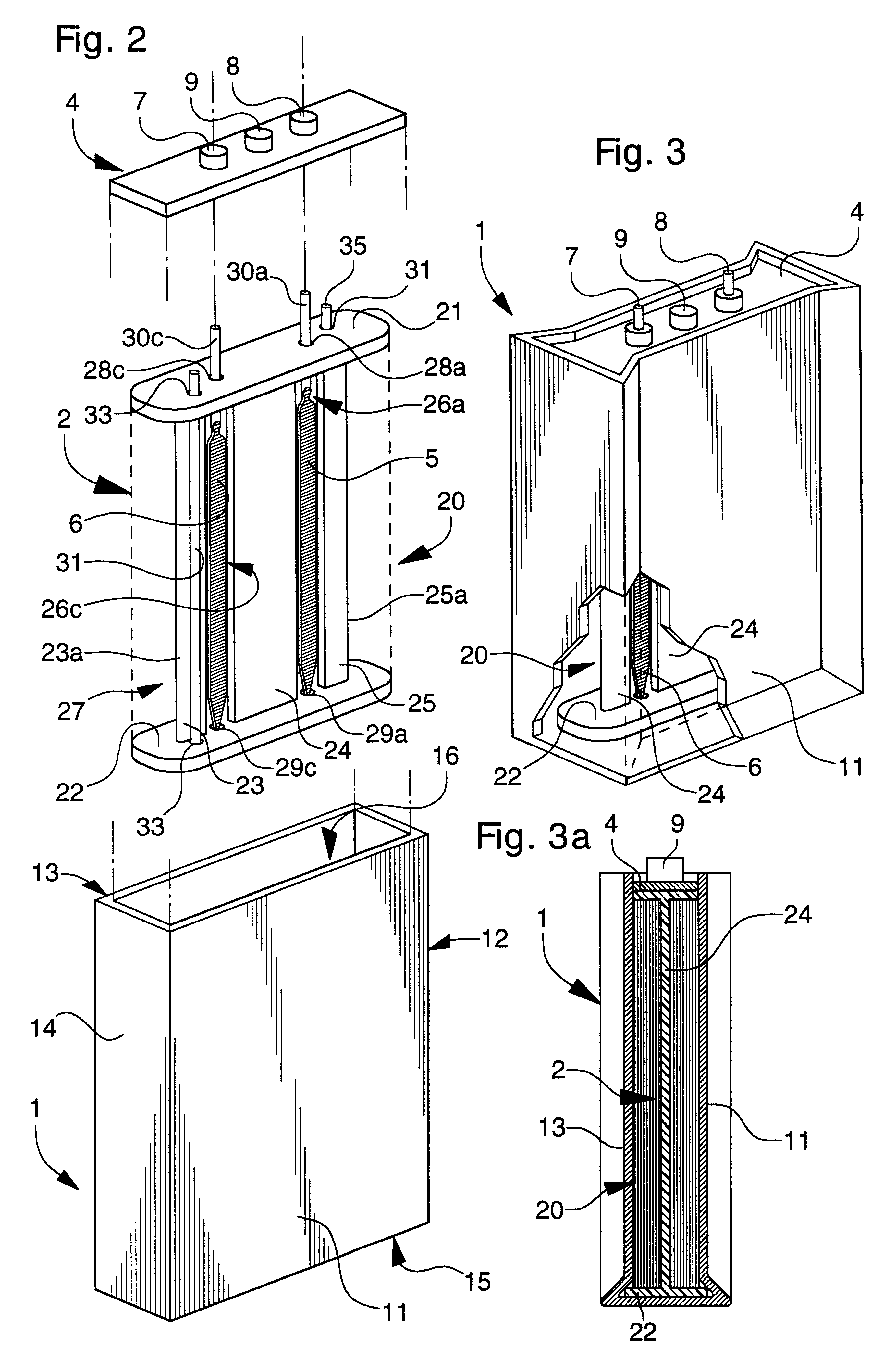 Patent Us6190794 Prismatic Storage Battery Or Cell With