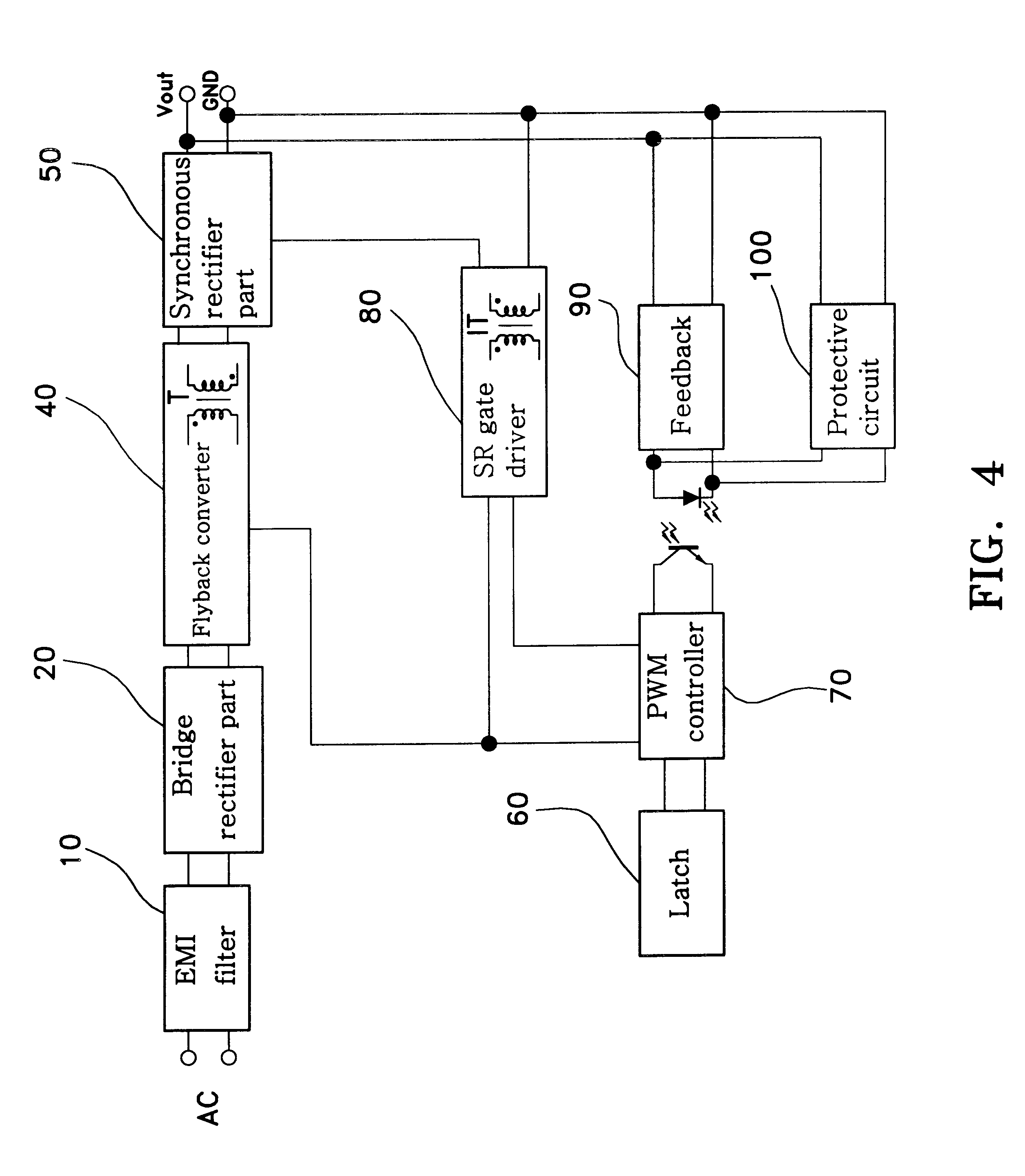 patent us6198638 - synchronous rectifier flyback circuit for zero voltage switching
