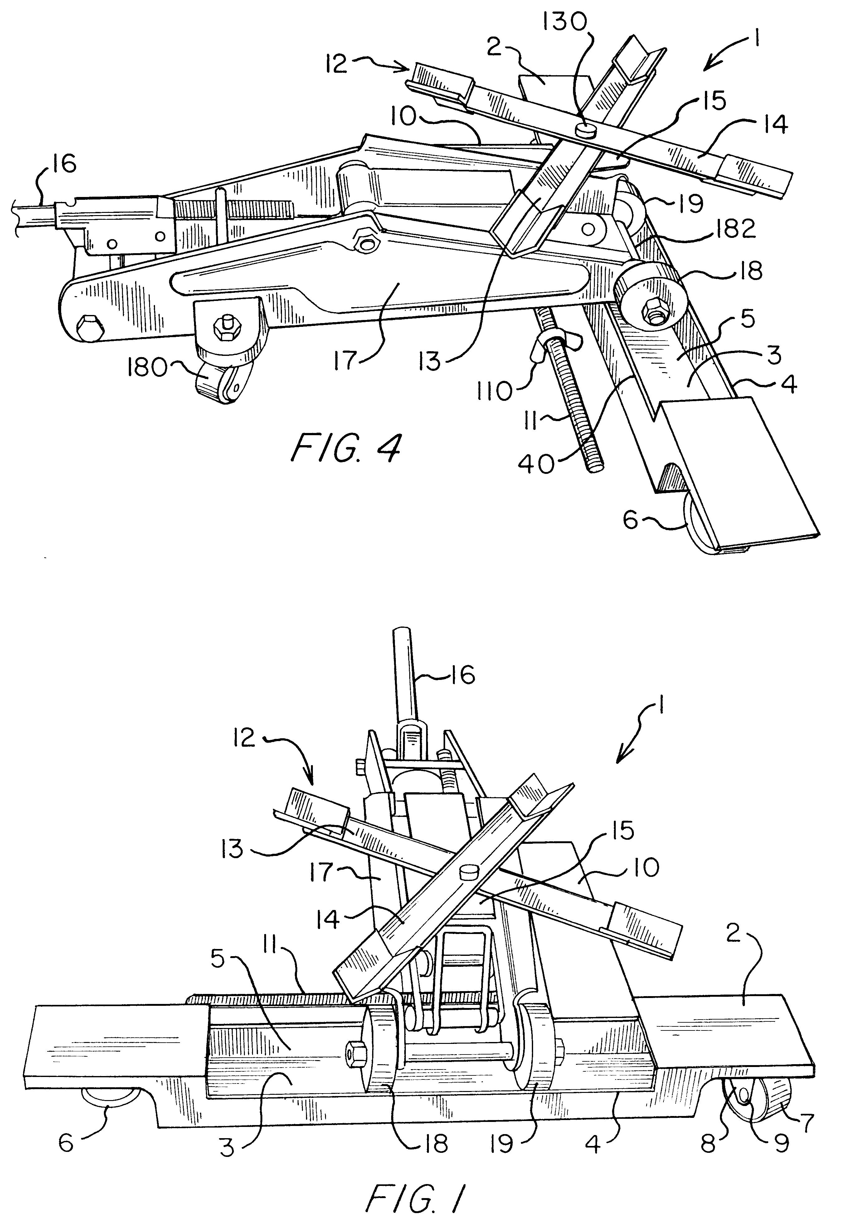 Design of car jack - Patent Drawing