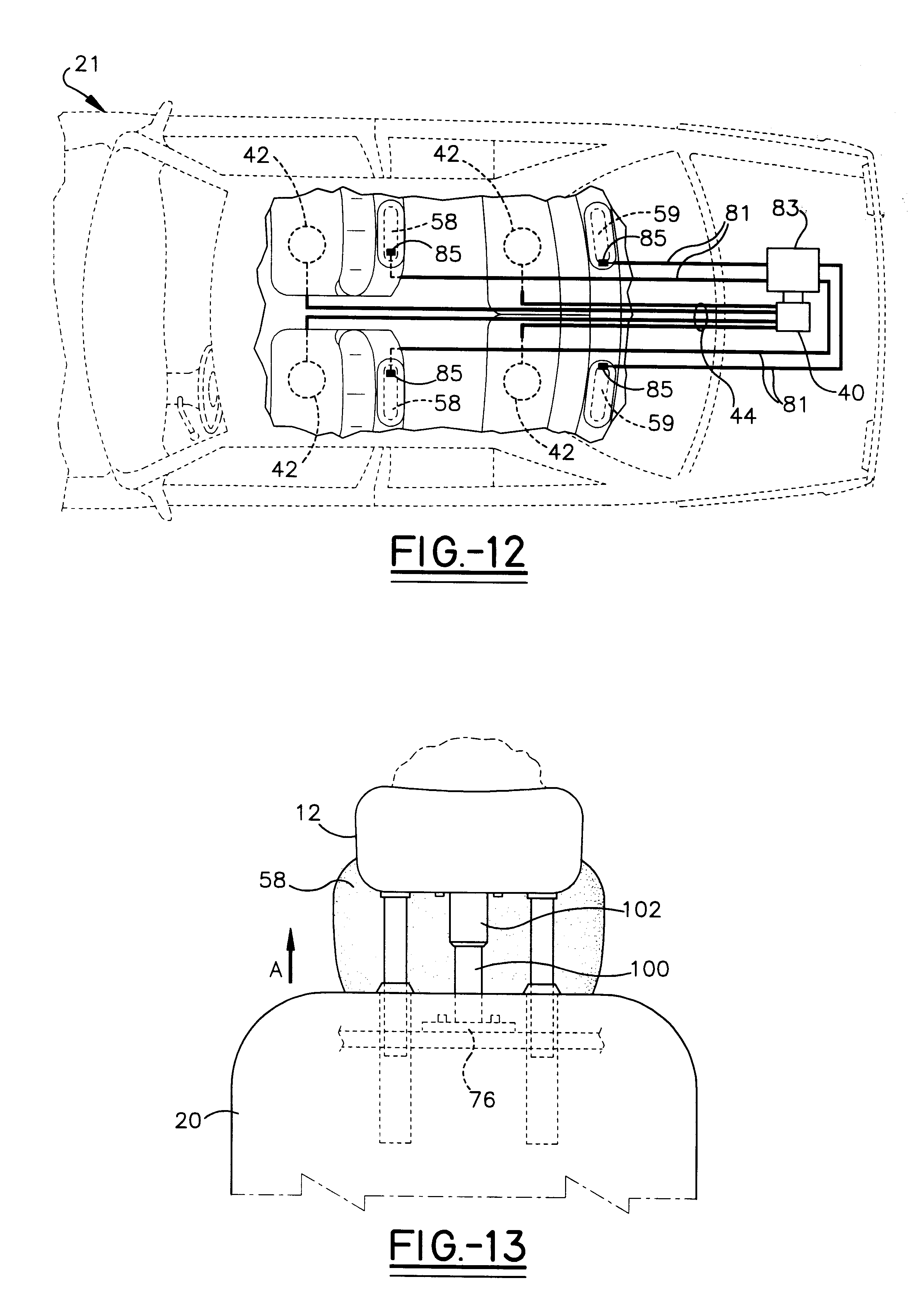 US06199900 20010313 D00005 patent us6199900 vehicle safety collision headrest system on headrest monitor wiring diagram