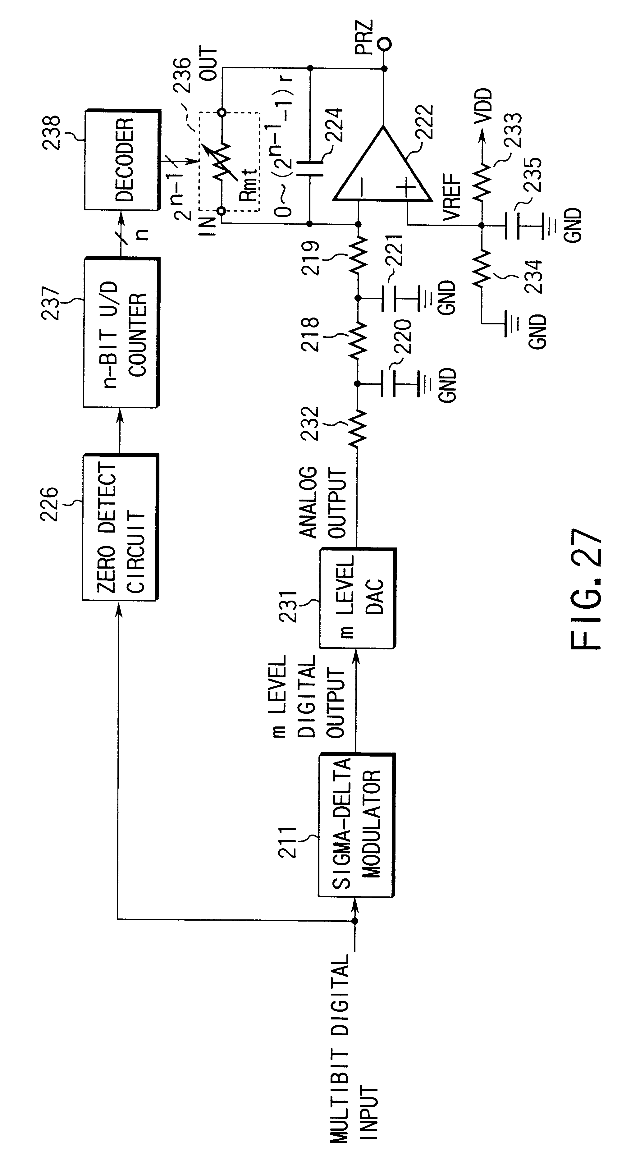 patent us6204789 - variable resistor circuit and a digital-to-analog converter