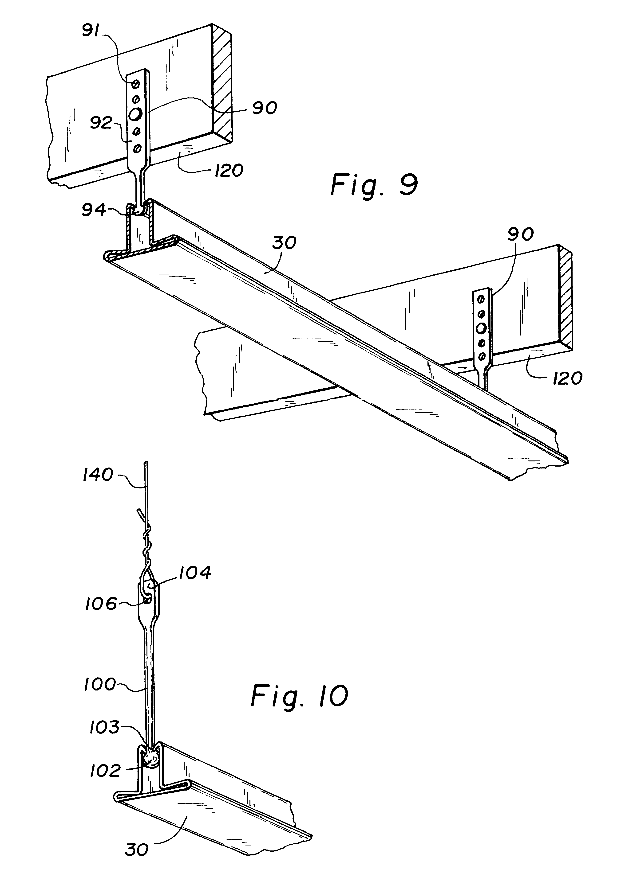patent us6205733 - direct mount ceiling panel grid system