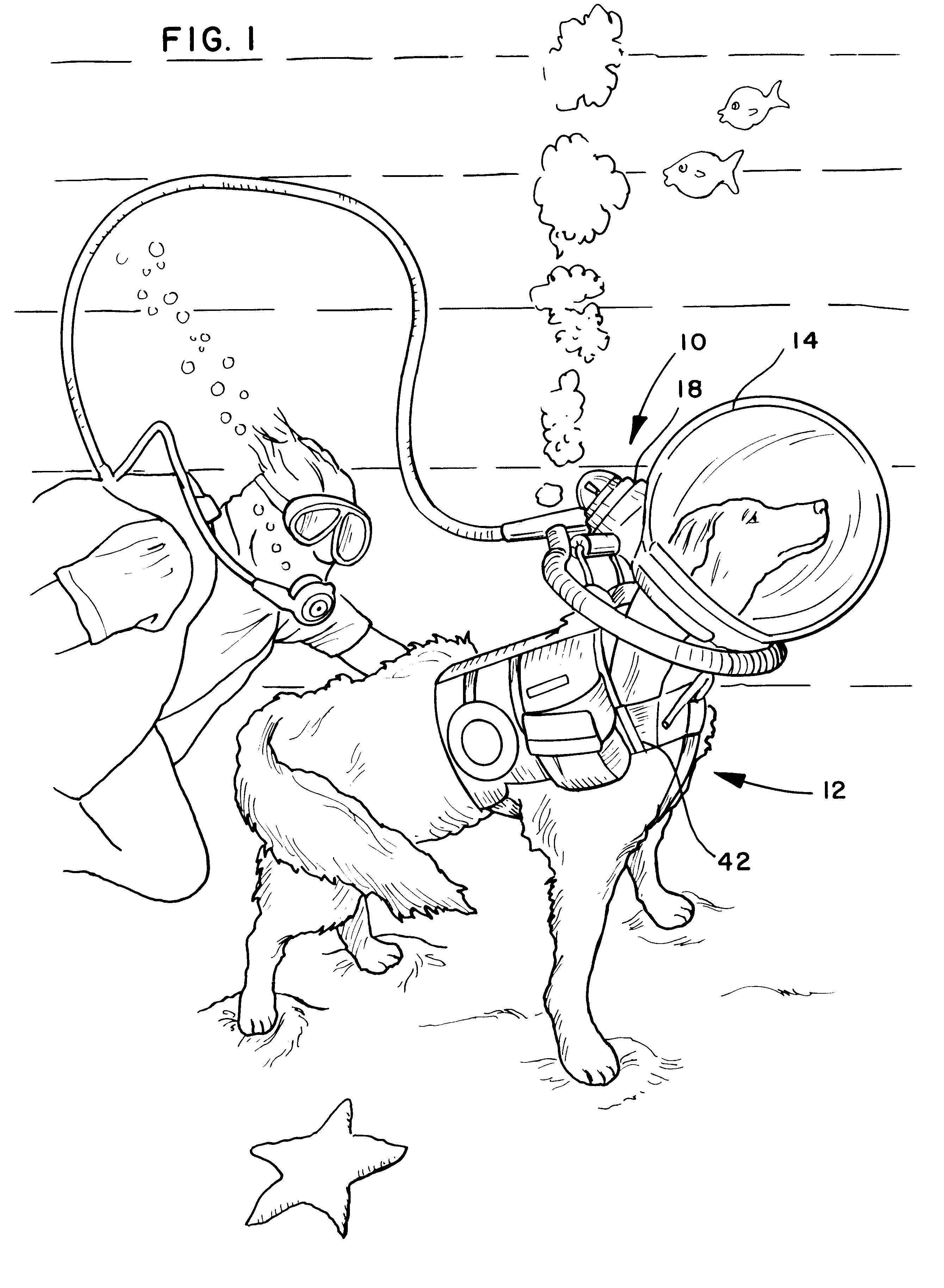 patent us6206000 - canine scuba diving apparatus