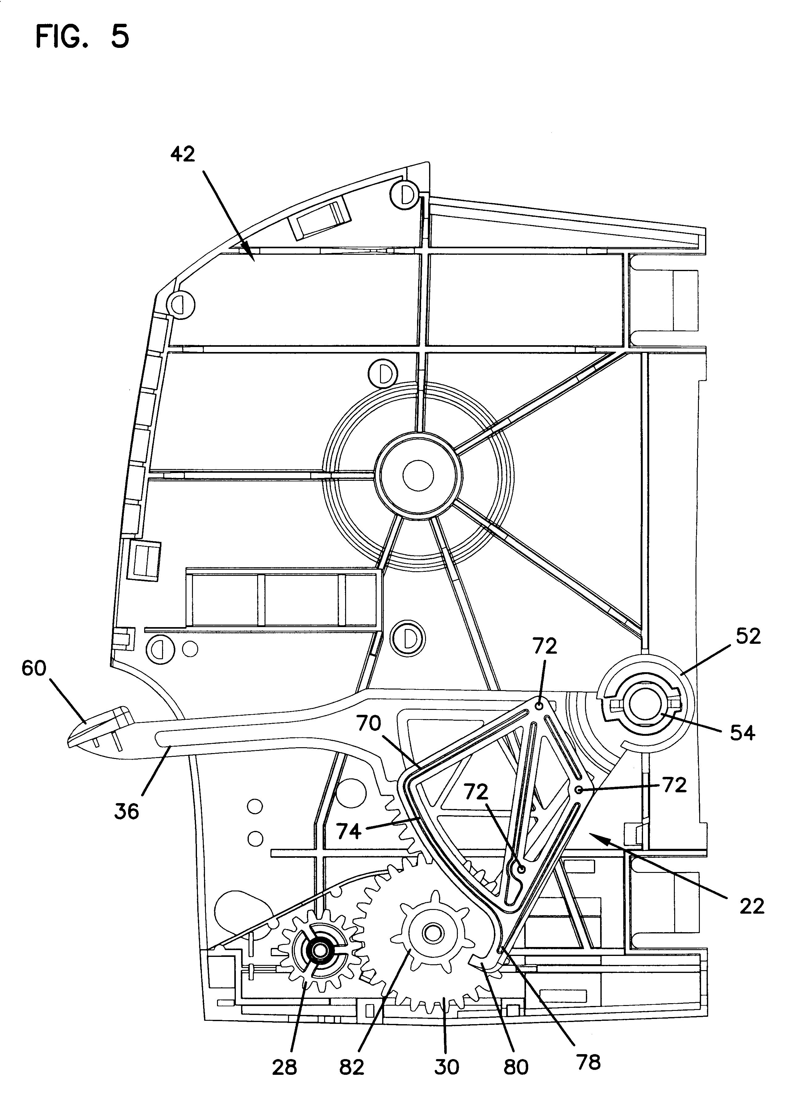 Mechanism Wheel Lever : Patent us towel dispenser with anti free wheel