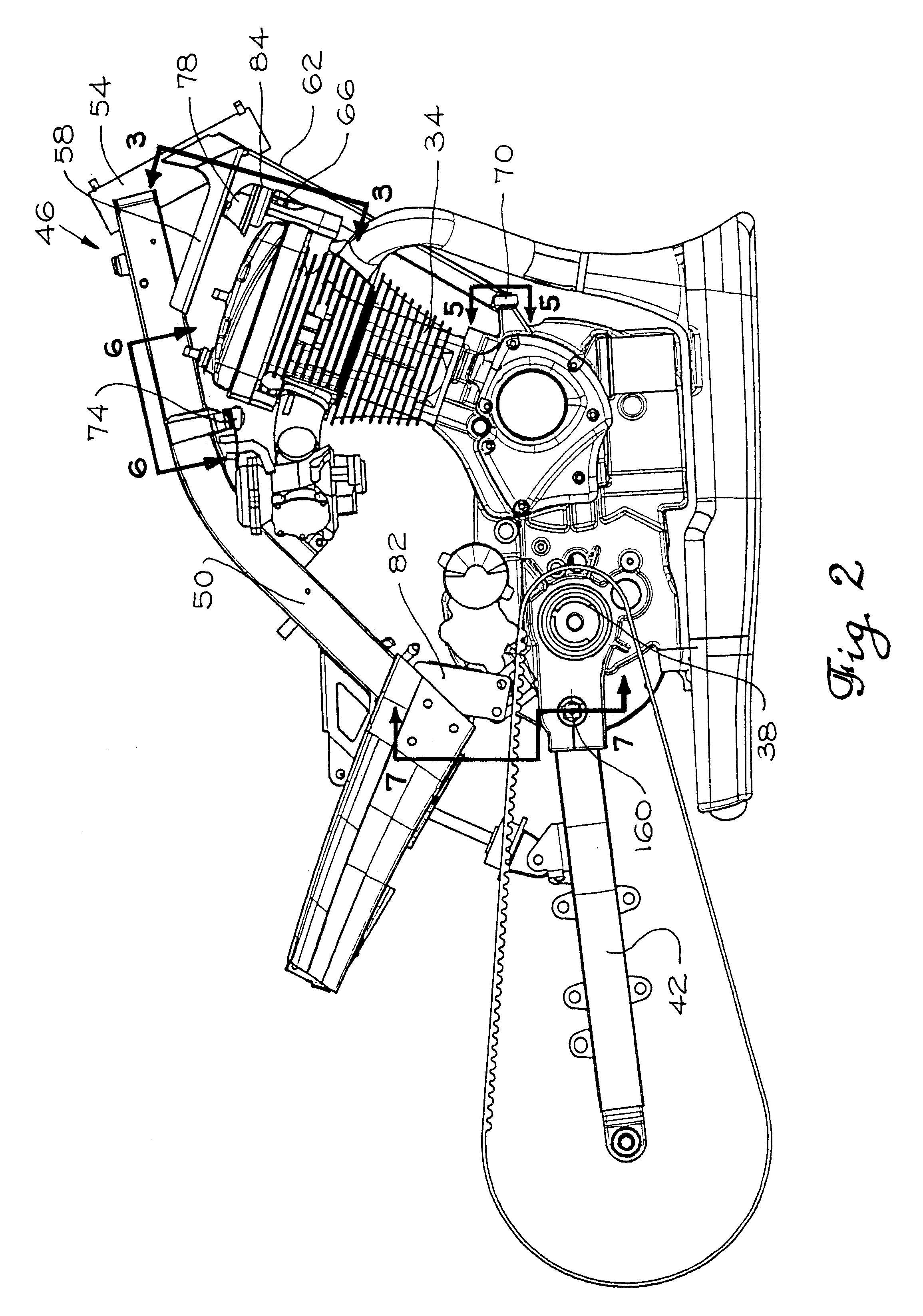 Patent Us6213240 Motorcycle Engine And Transmission Mounting 22 Rifle Parts Diagram Car Component Drawing