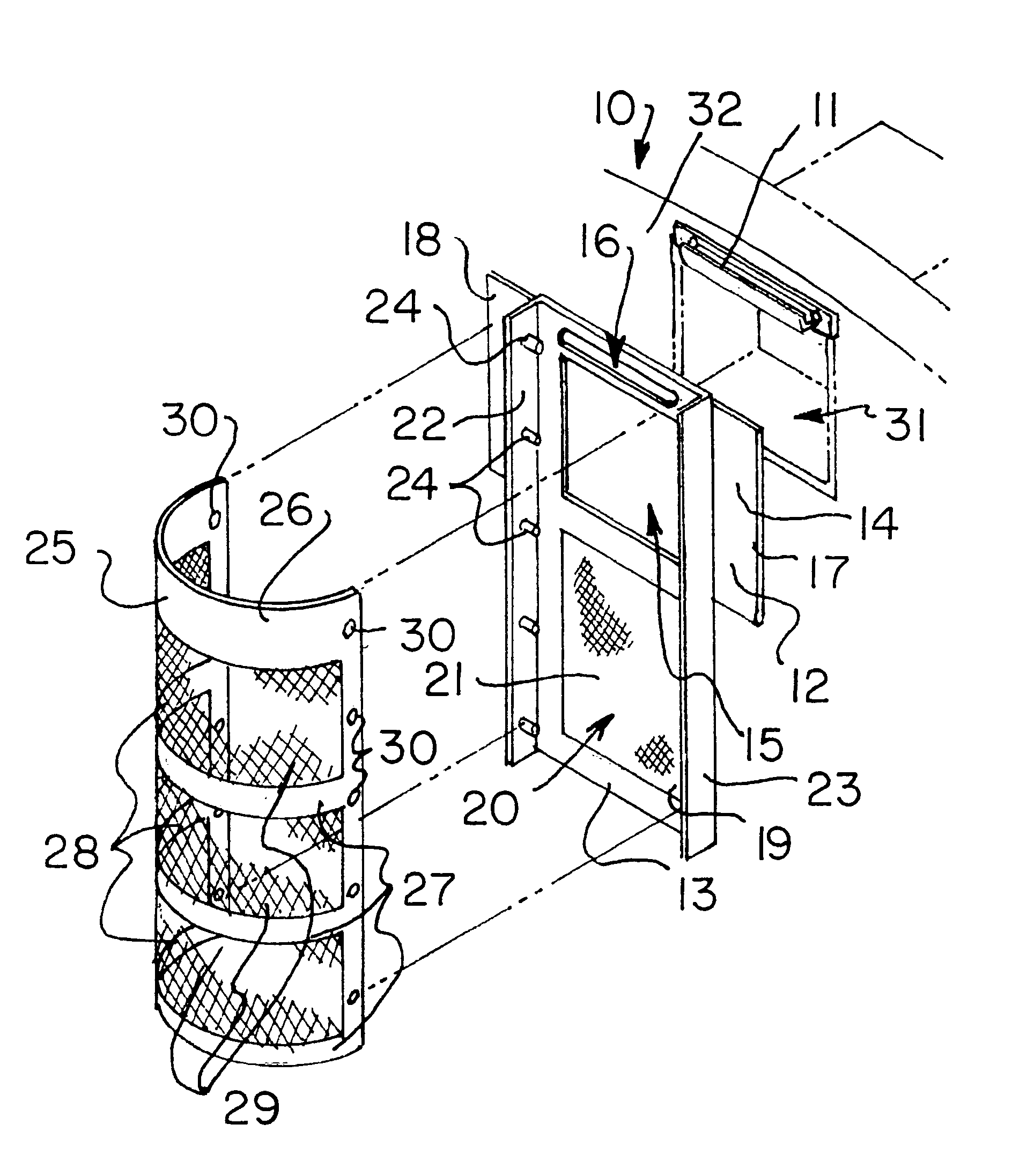 Patent Us6214217 Skimmer Screen For A Swimming Pool