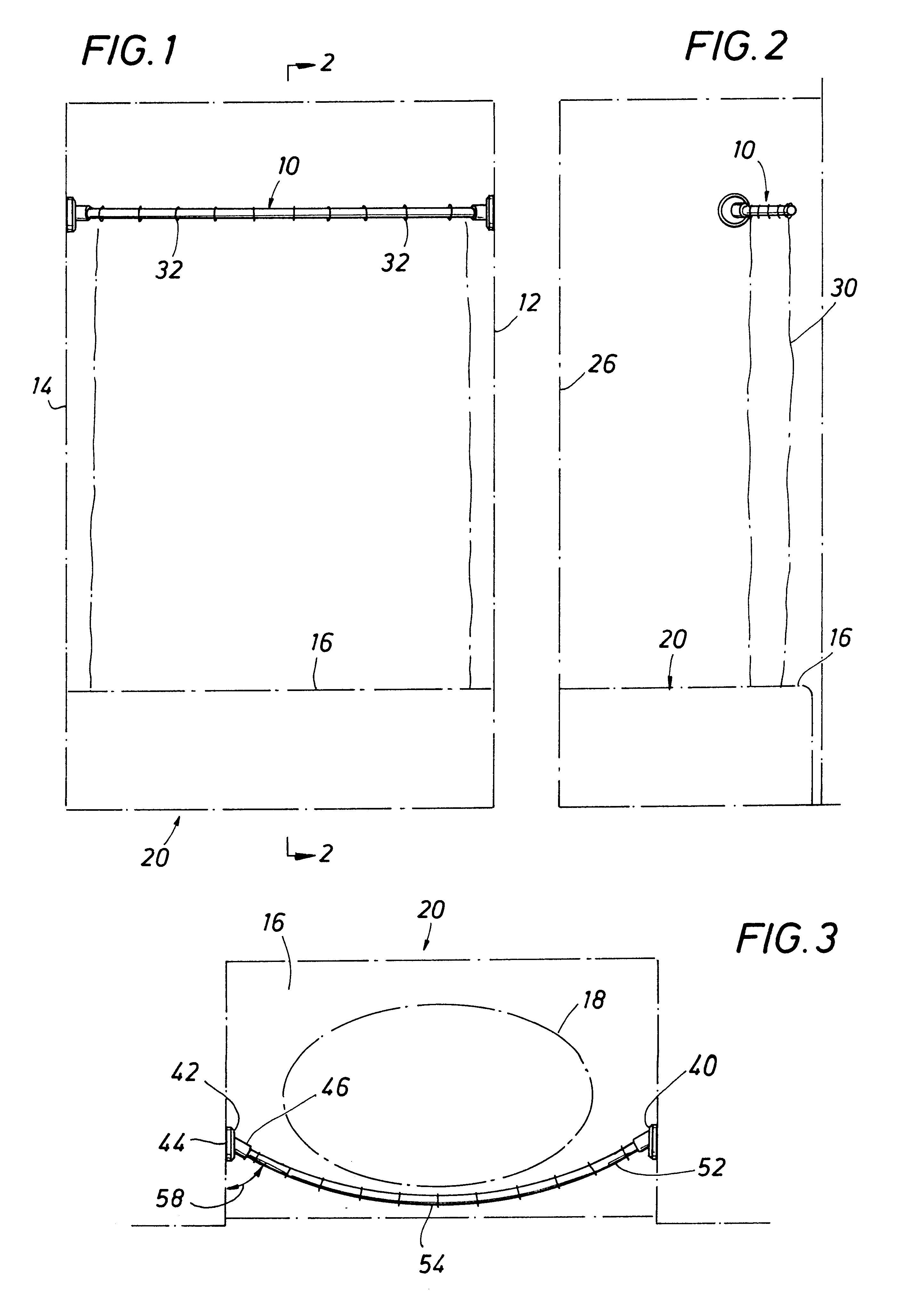 Patent Us6216287 Shower Curtain Rod Google Patents