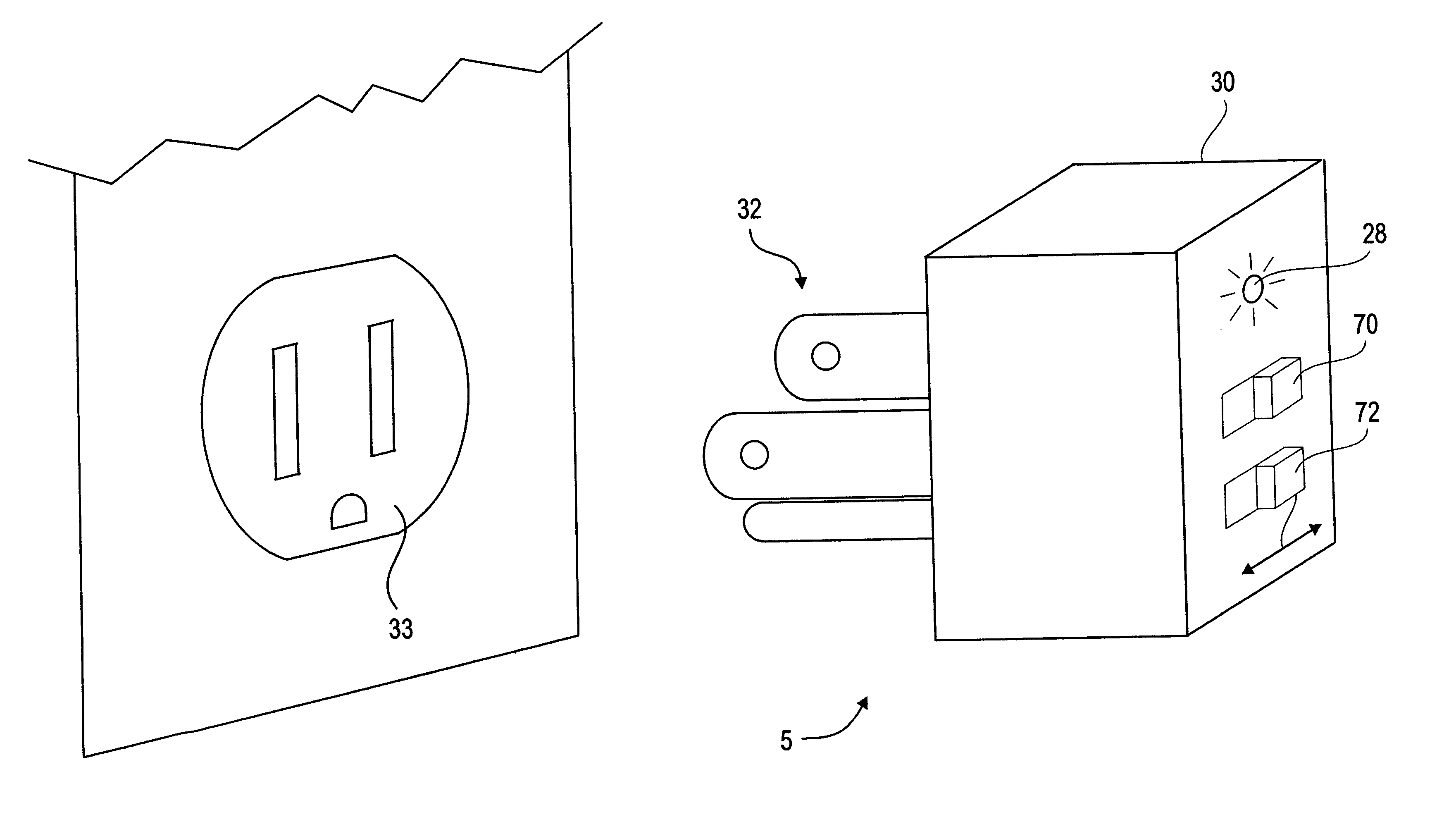 patent us6218844 - method and apparatus for testing an arcing fault circuit interrupter