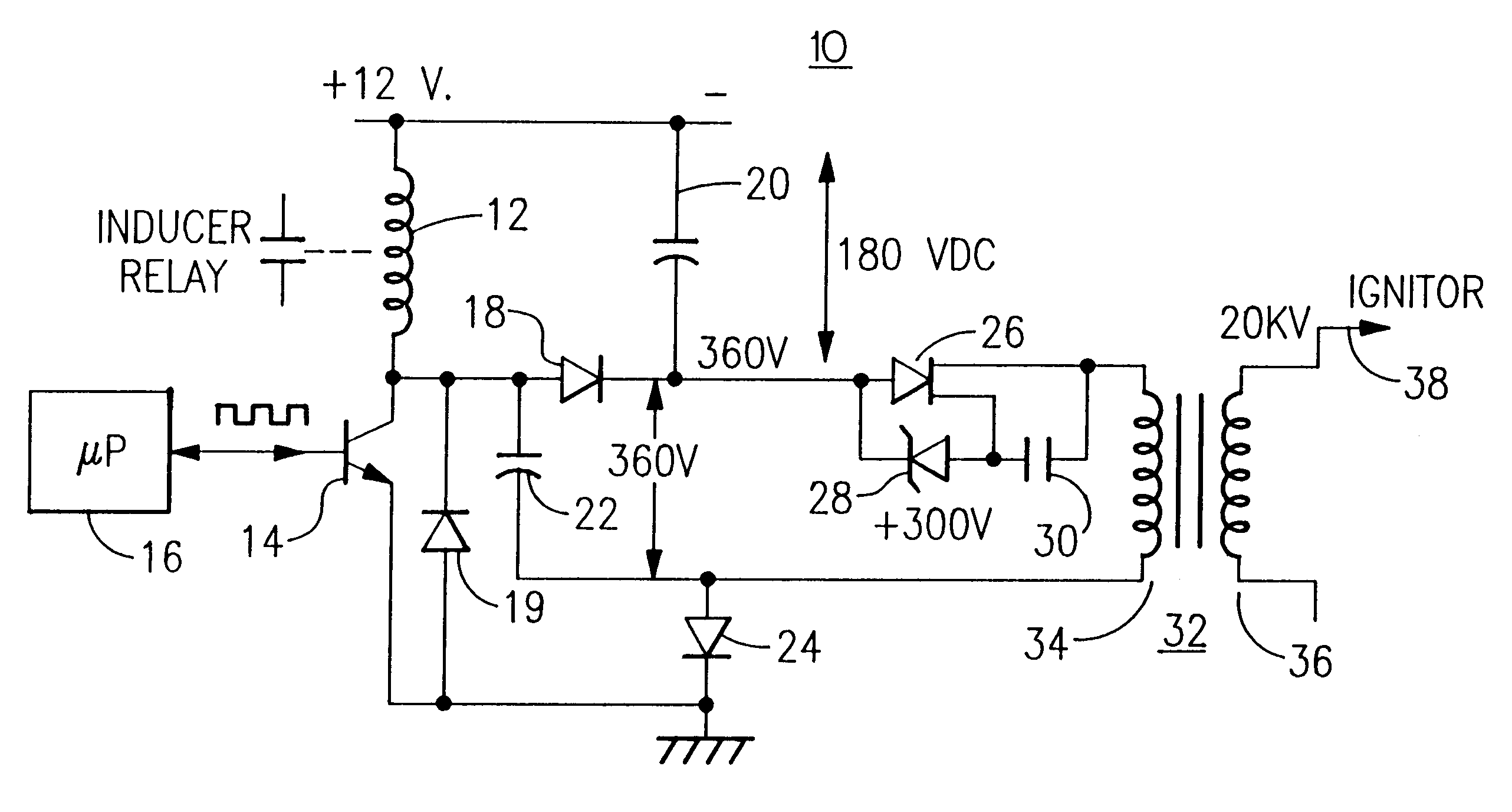 US06222719 20010424 D00000 patent us6222719 ignition boost and rectification flame RV 12V Wiring Diagram at gsmportal.co