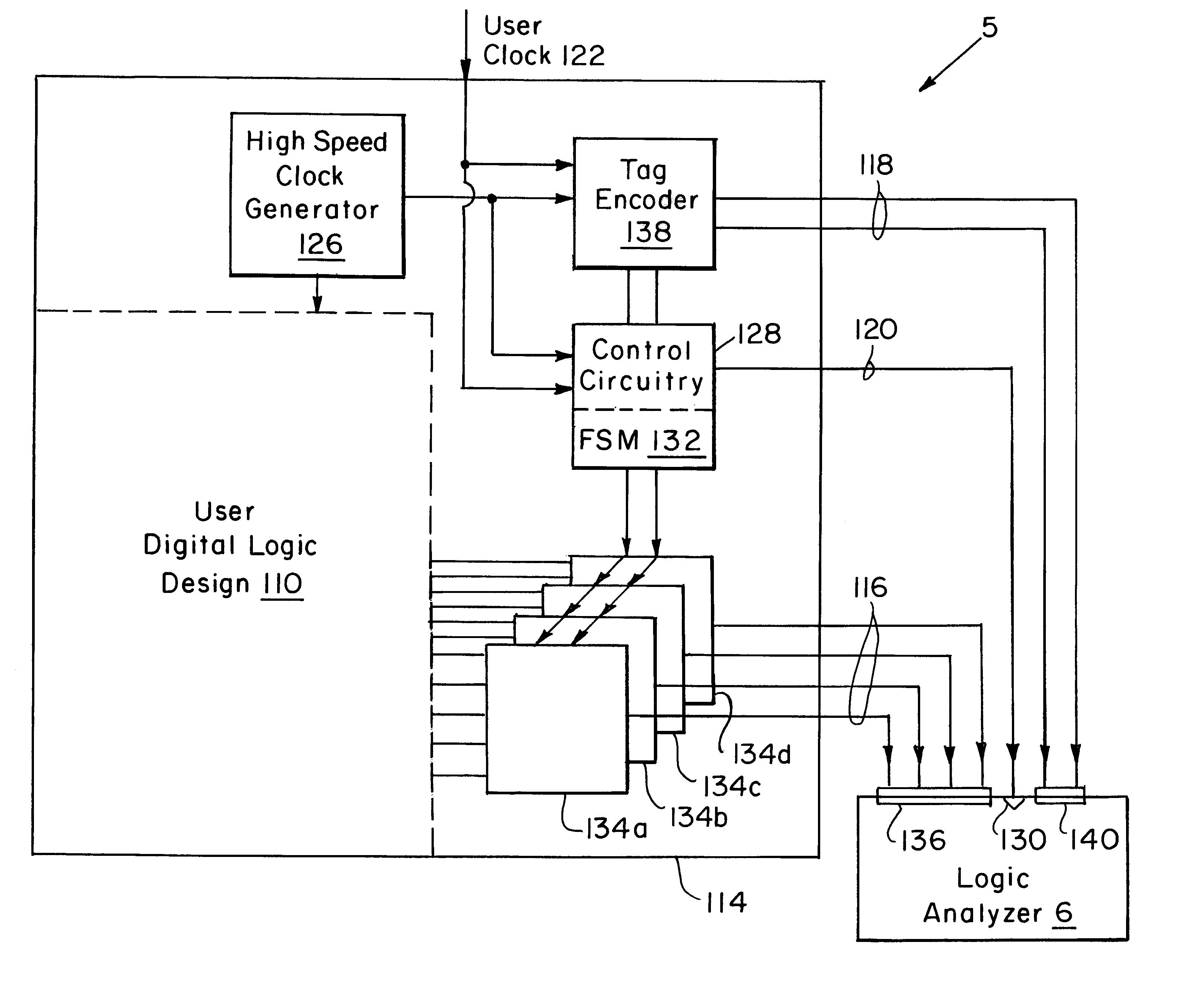 Patent Us6223148 Logic Analysis System For Emulation Systems Analyzer Diagram Drawing